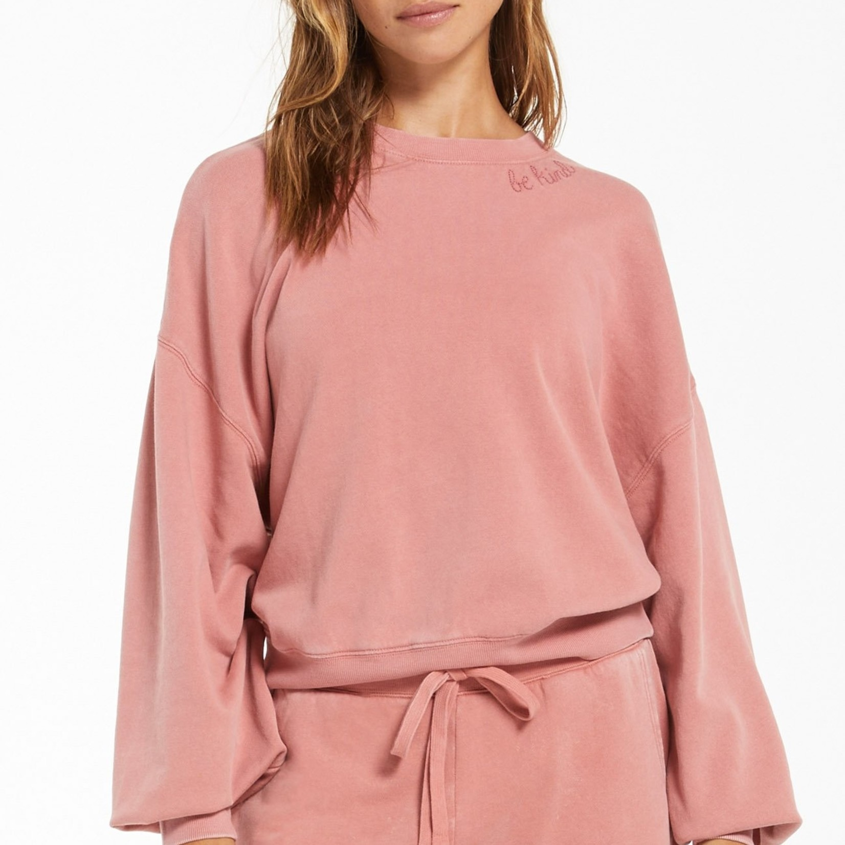 Z Supply Z Supply Lia Washed LS Top