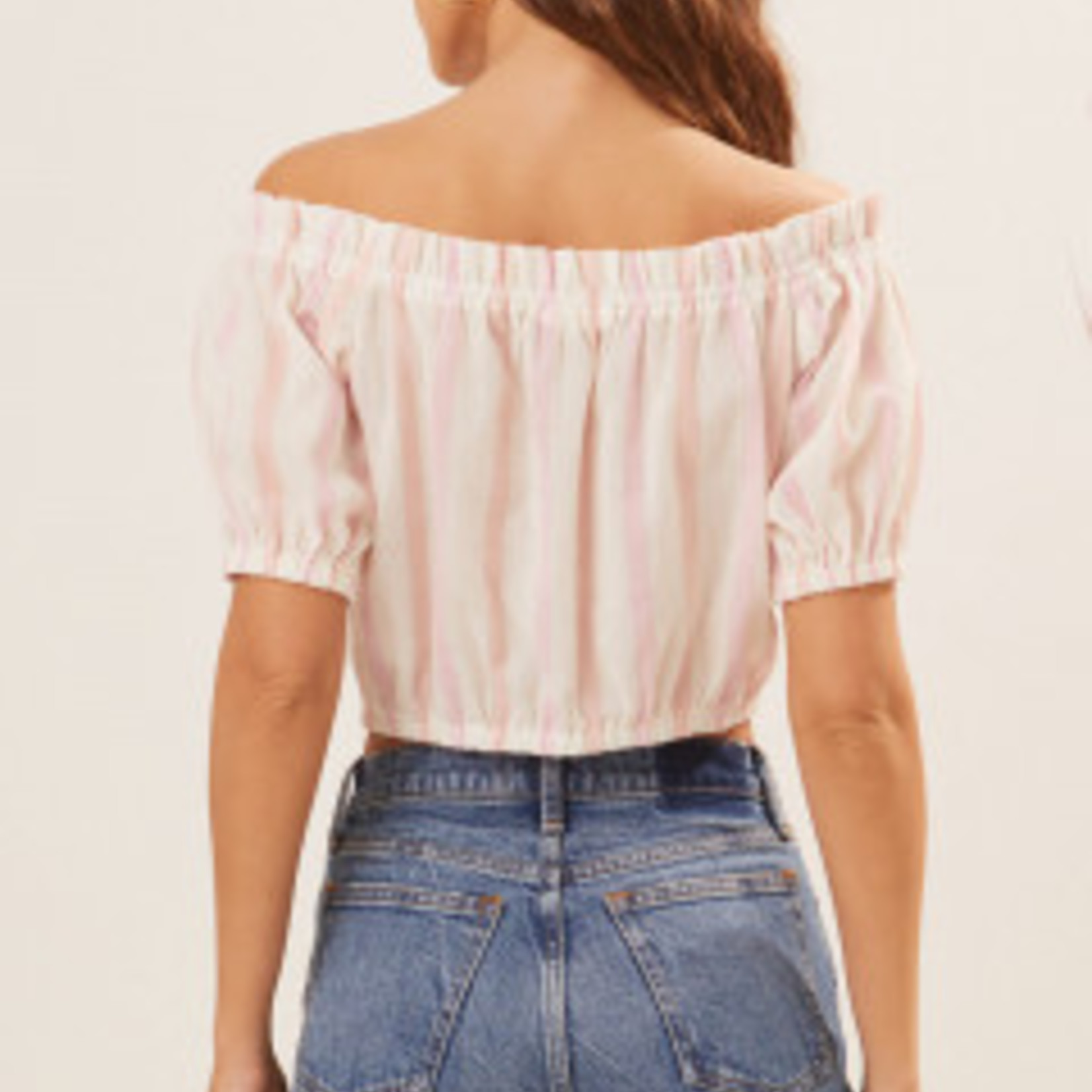 Lush Off The Shoulder Crop Top
