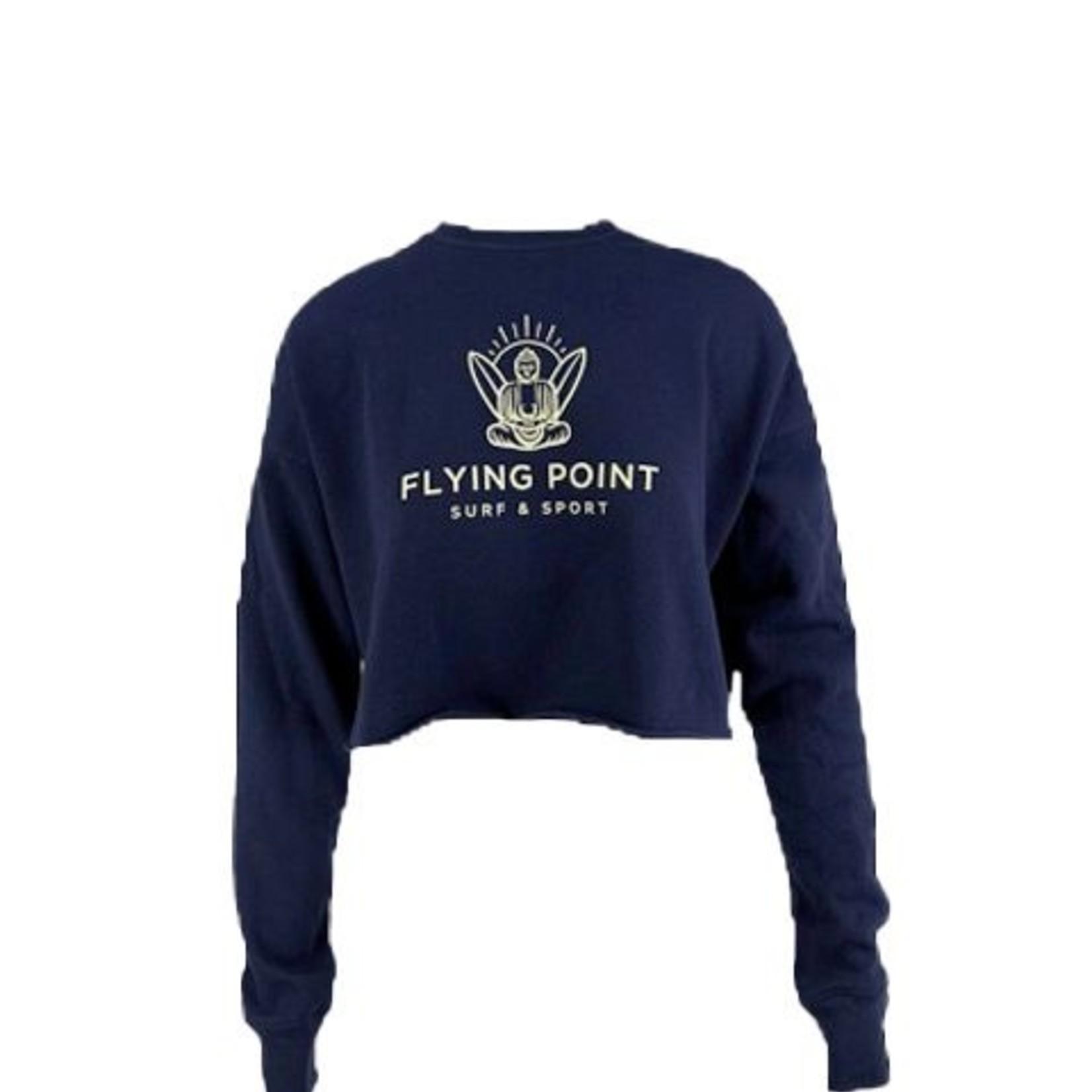 Flying Point FP Buddha Crop  Crew Neck Navy