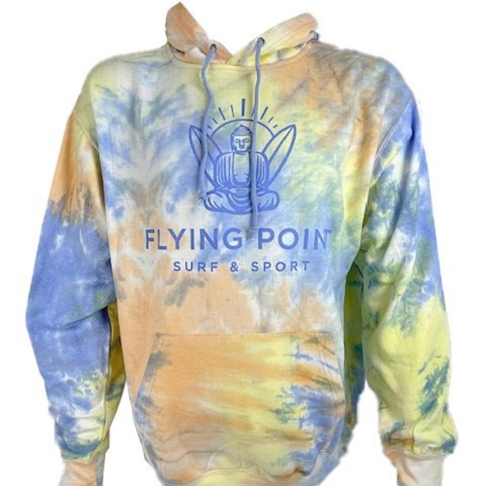 Flying Point Buddha Sunrise Tie Dye / Light Blue Sweatshirt