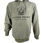 Flying Point Buddha Fleece Hood Olive/Navy Sweatshirt