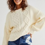 Free People Free People Dream Cable Crew Sweater