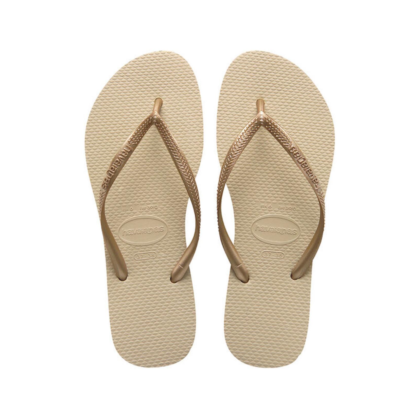 Havaianas Havaianas Slim Sandal Sand Grey/Light Golden FlipFlops