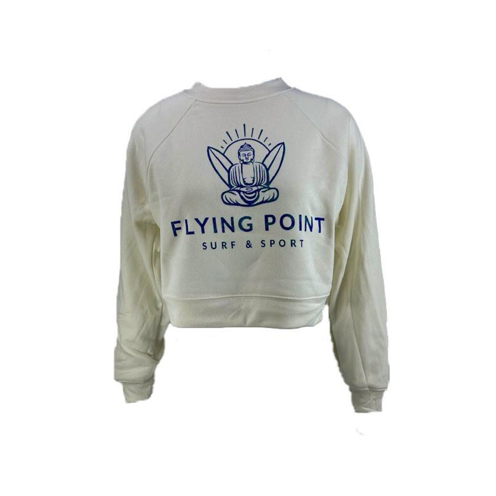 Flying Point Cropped Crew Fleece
