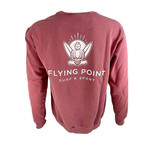 Flying Point Pullover Crimson Buddha Crewneck