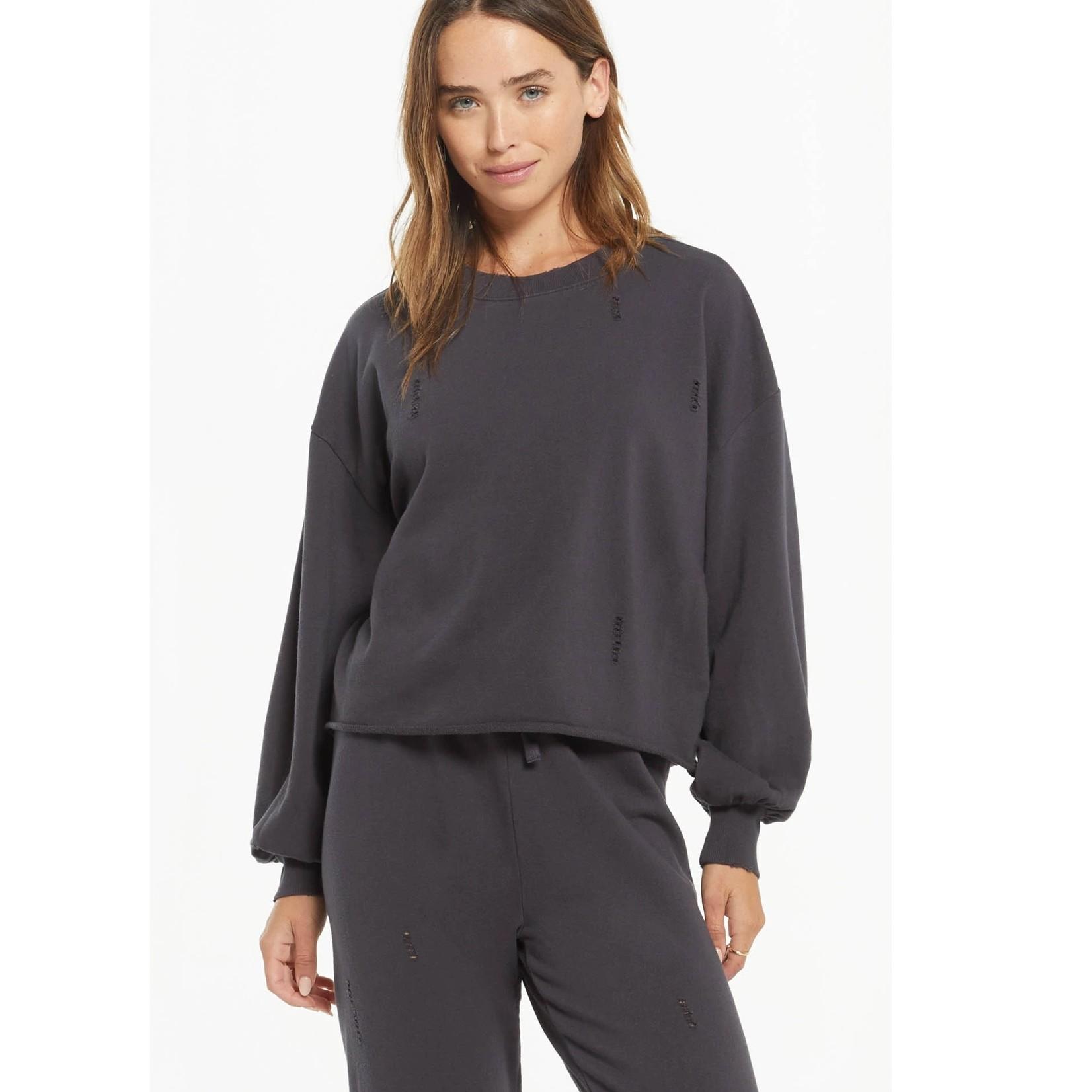 Z Supply Z Supply Allie Distressed Sweatshirt