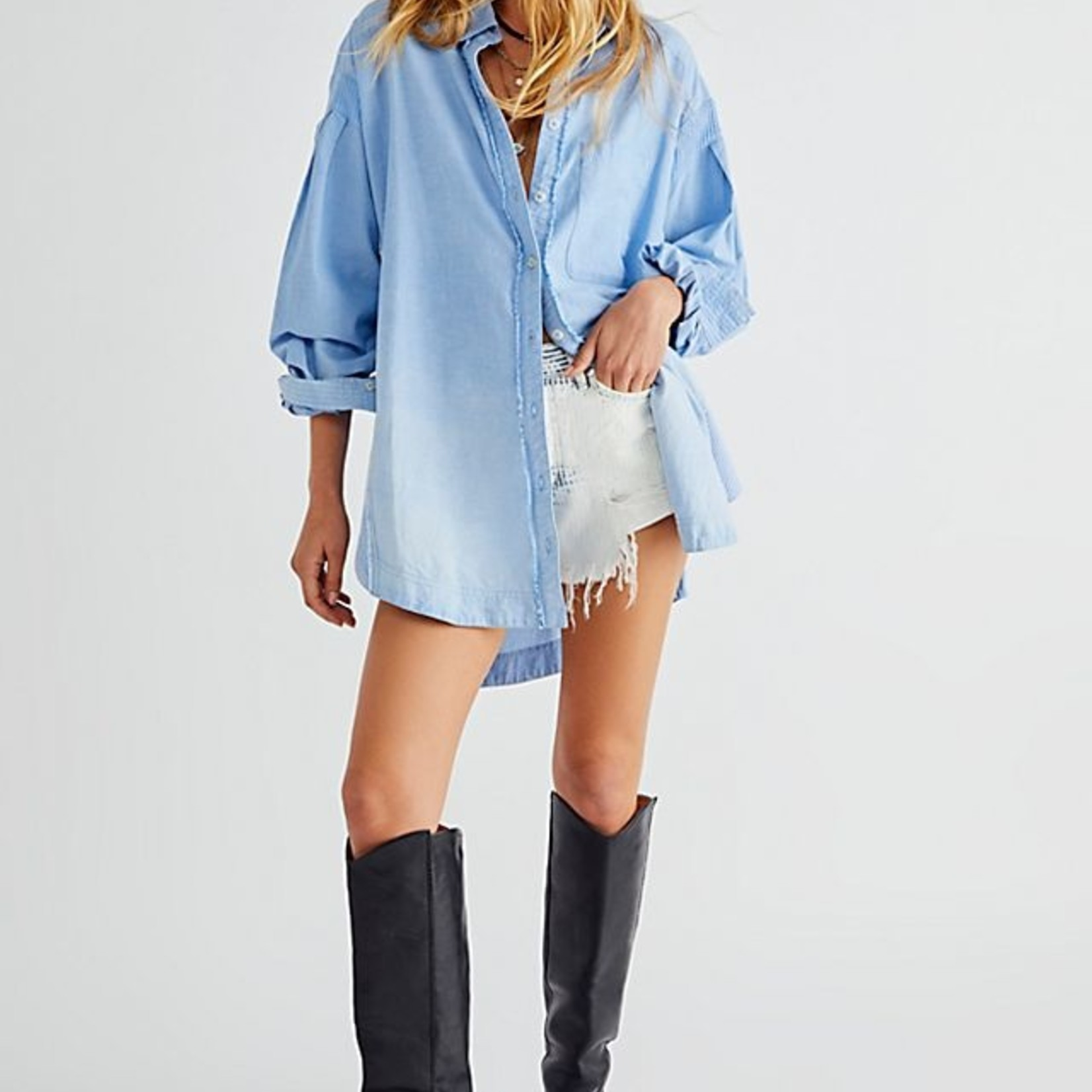 Free People Free People Cool & Clean Button Down