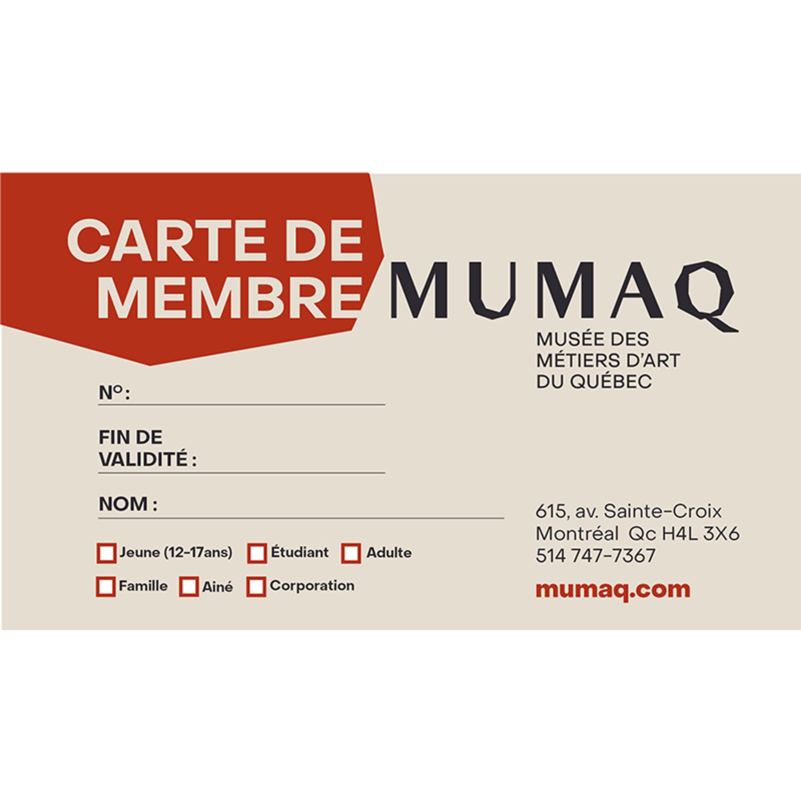 Carte de membre 1 an - Étudiant