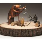 Carte de voeux «Cigale et fourmi»