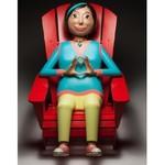 Carte de souhaits «Sculpture-mascotte»