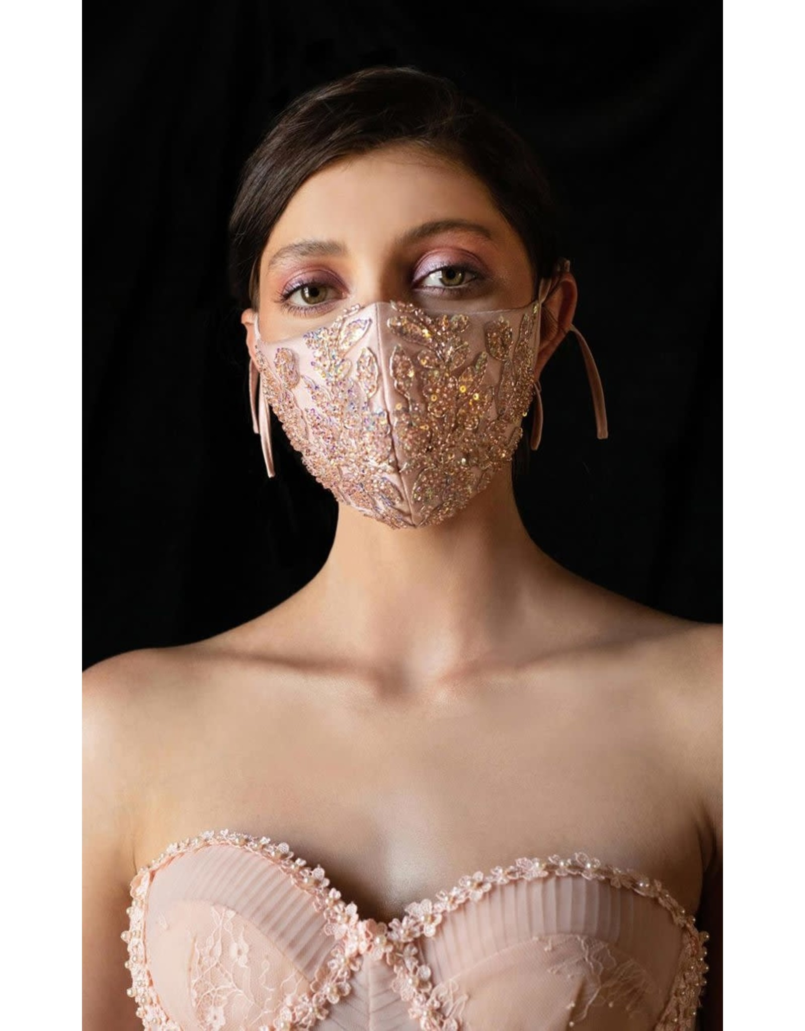 Andrea & Leo Blush Face Mask