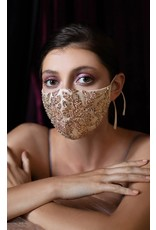 Andrea & Leo Champange Gold Face Mask