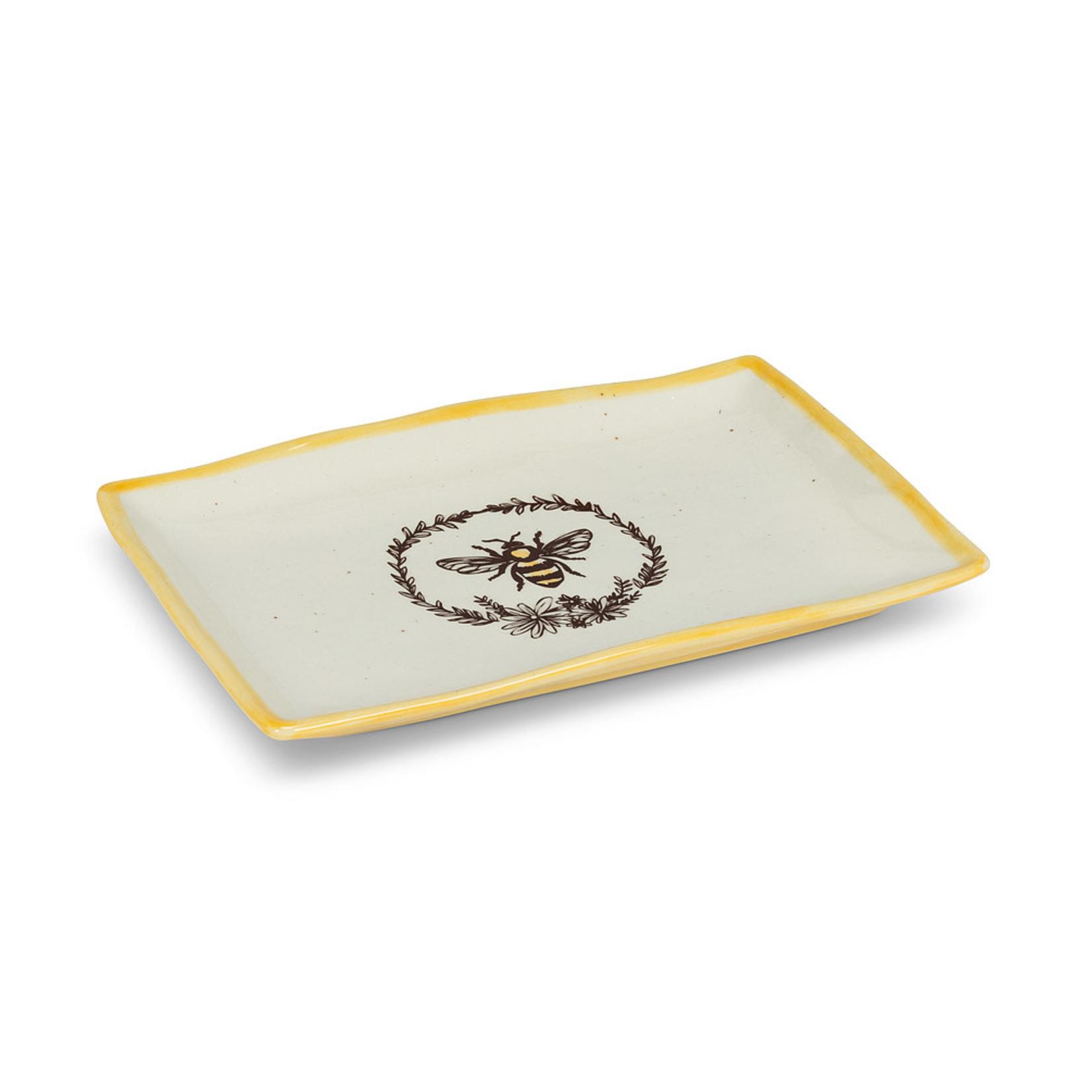 Bee w Wreath Platter