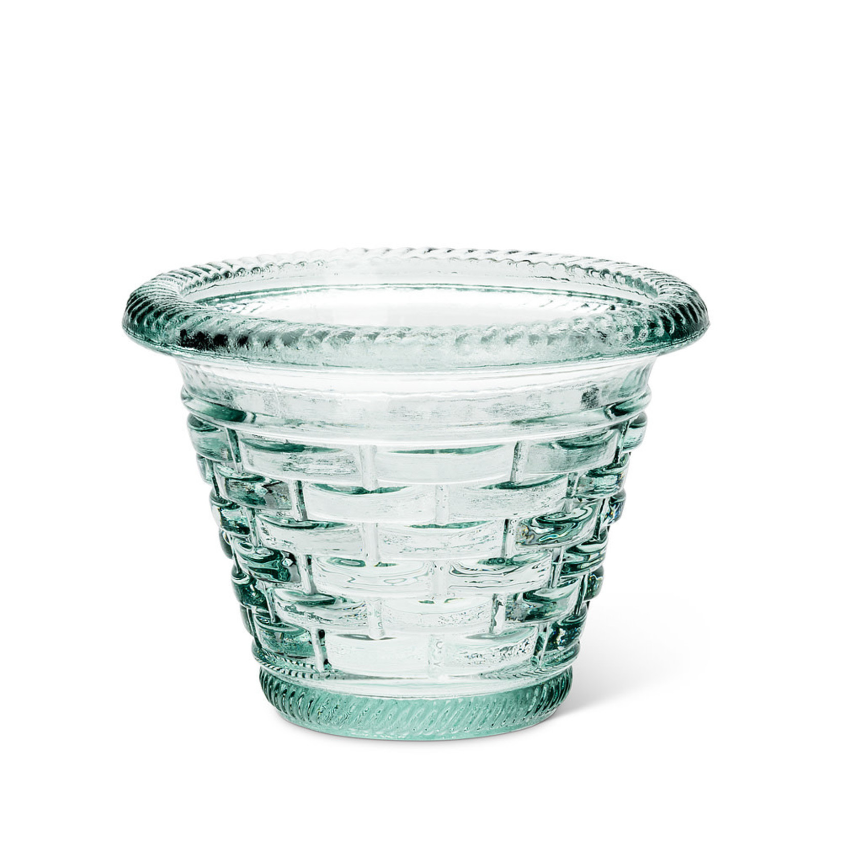 Recycled Glass Woven Pot
