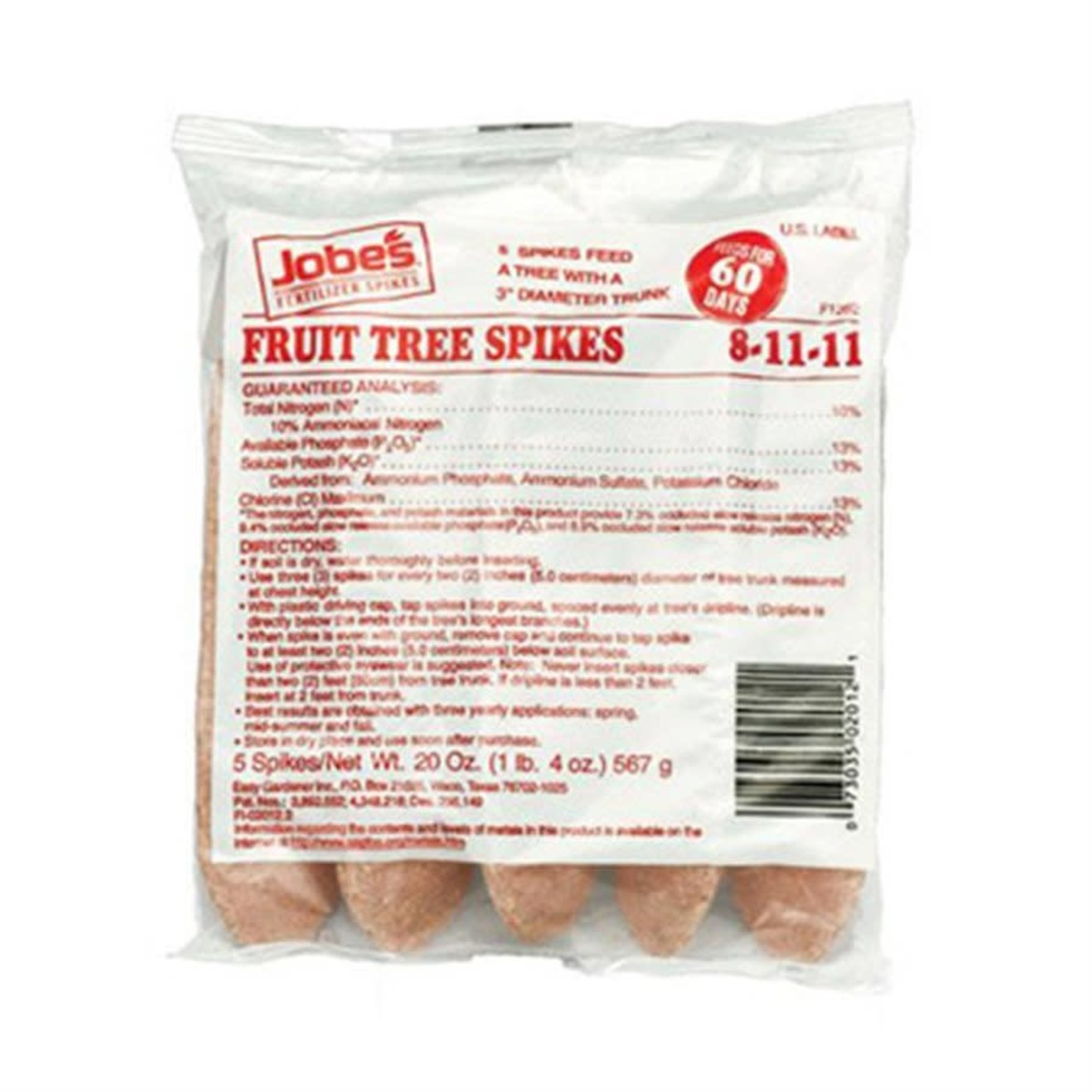 Jobes Fruit Tree Spikes- 5 pack 8-11-11