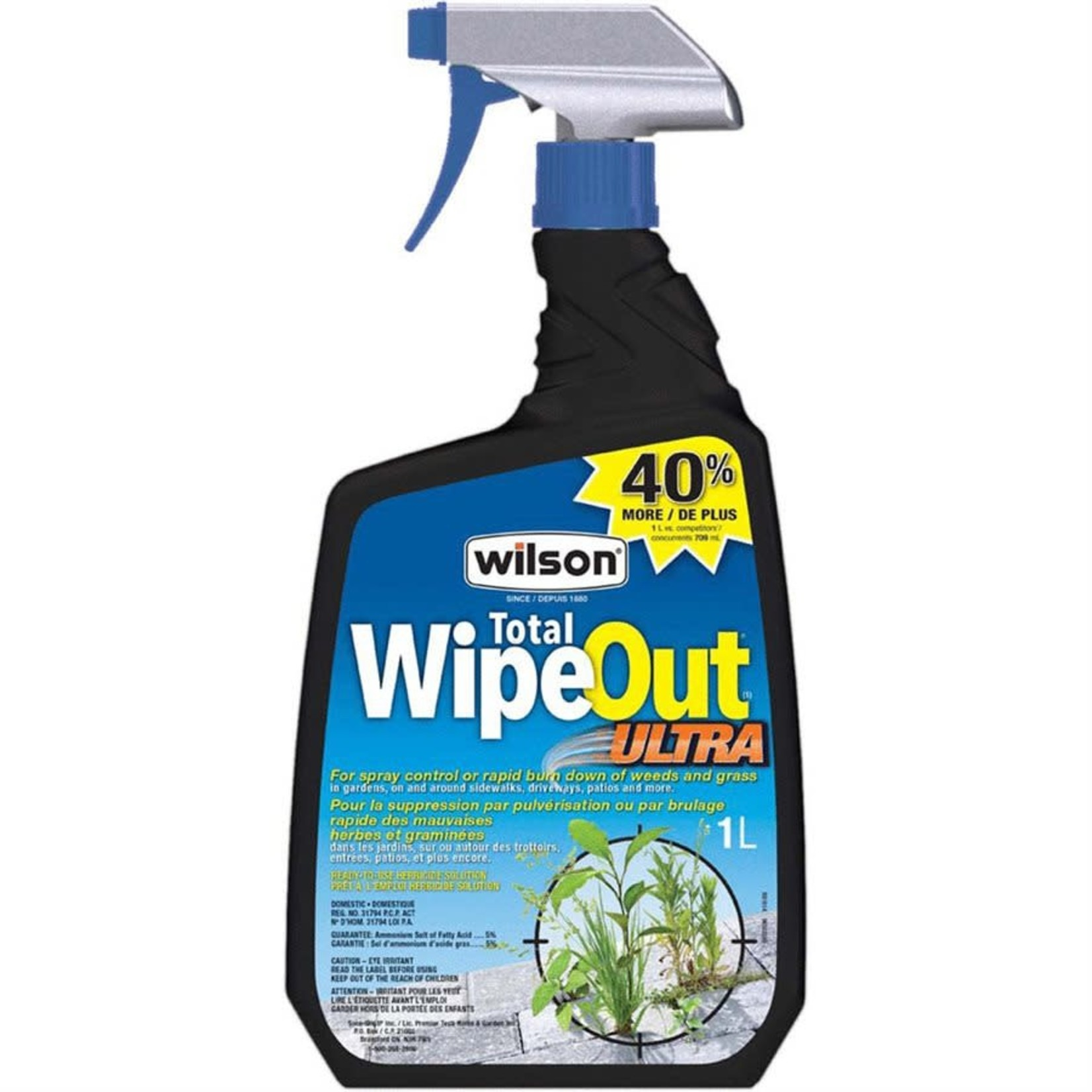 Wilson Total Wipe Out Ultra Weed and Grass Killer 1L