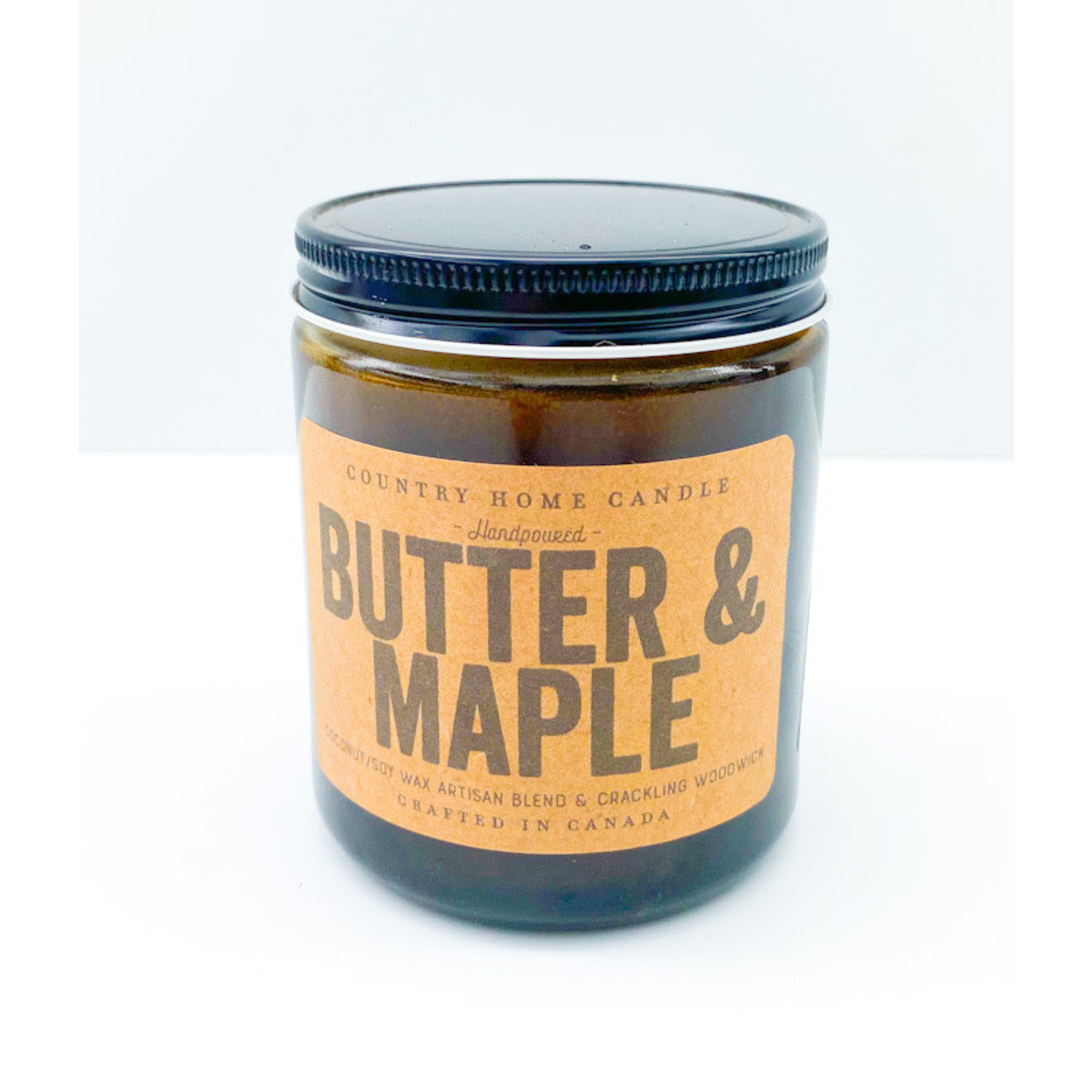 Candle - Butter & Maple Amber 8oz