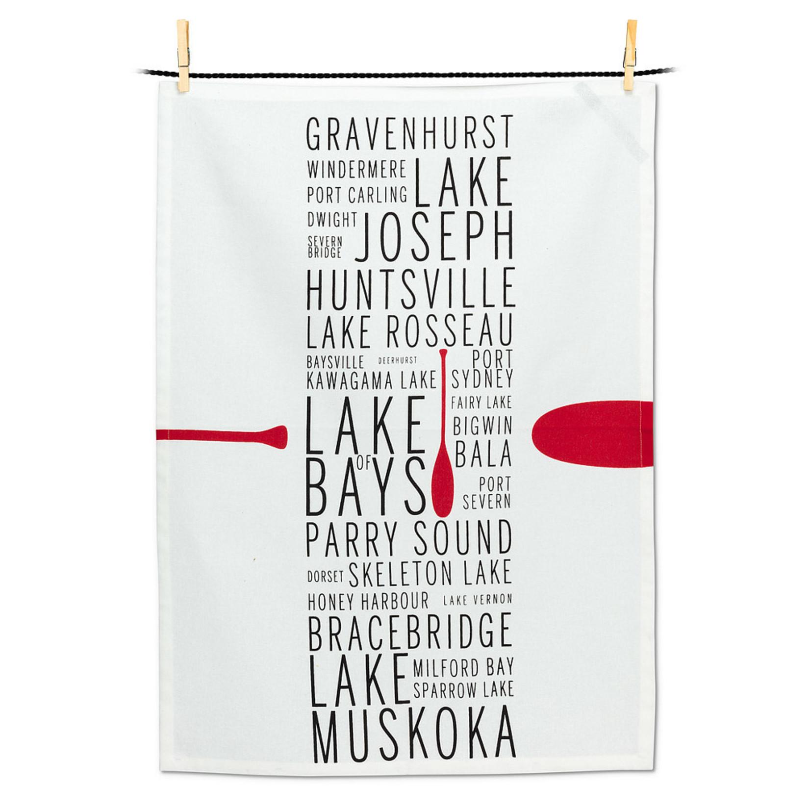 Tea Towel Muskoka Names