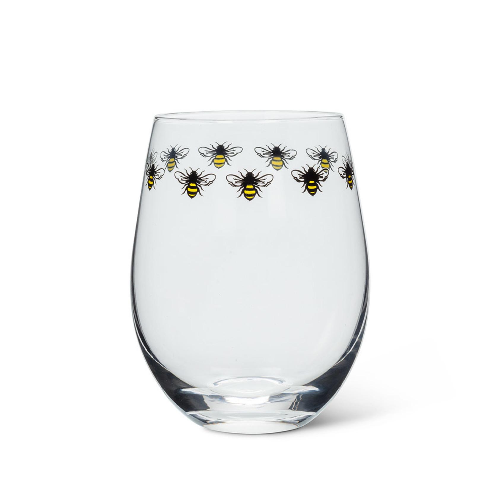 Bee Stemless Glass Goblet - 14 oz.