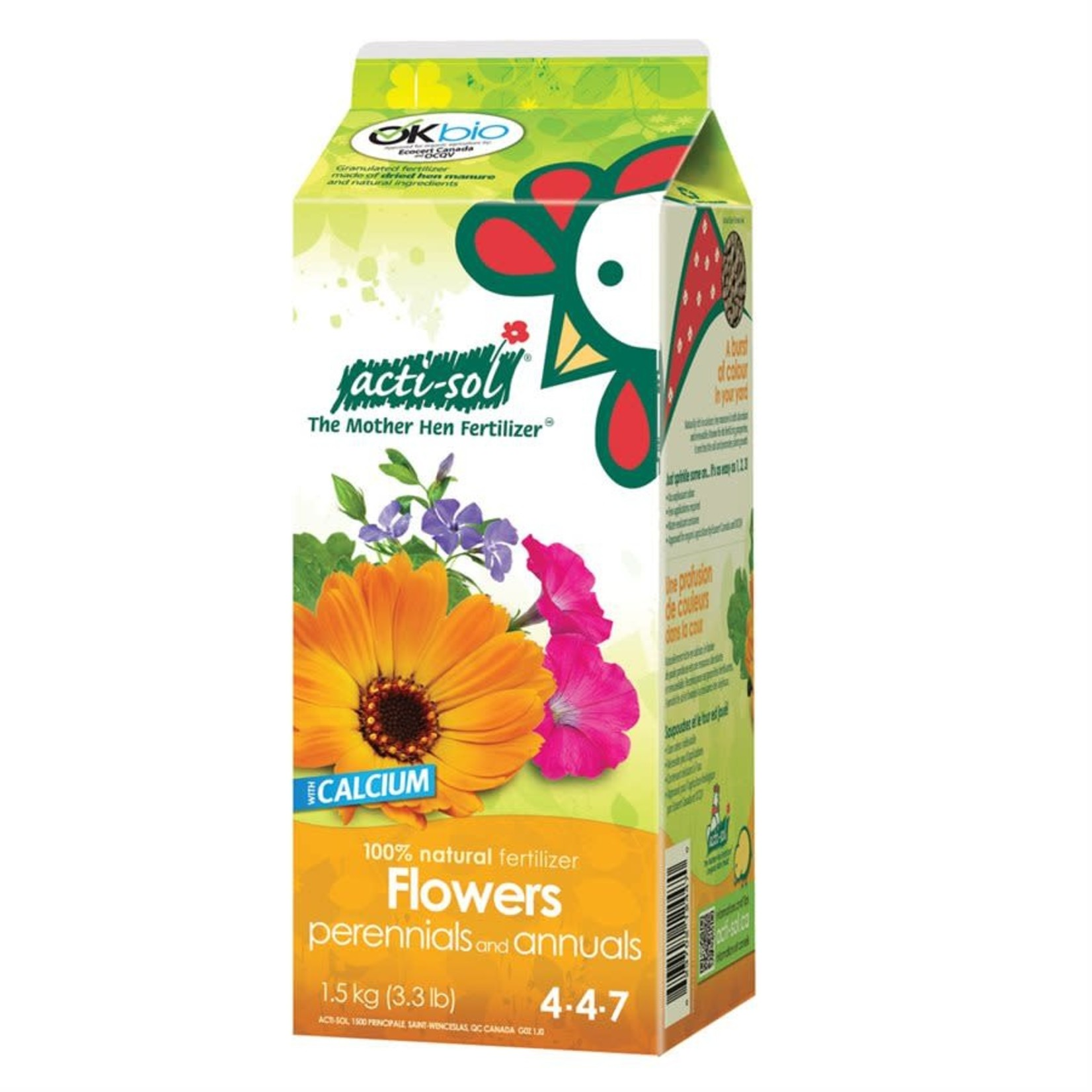 Acti-Sol Flowers 4-4-7 1.5kg