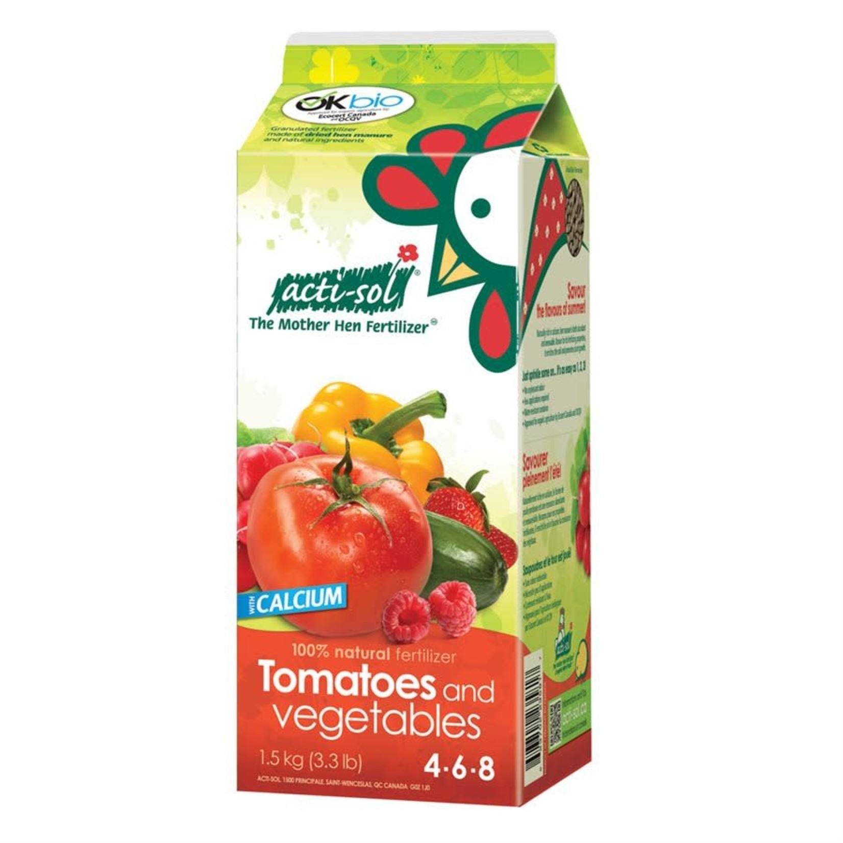Acti-Sol Tomatoes & Vegetables 4-6-8 1.5kg