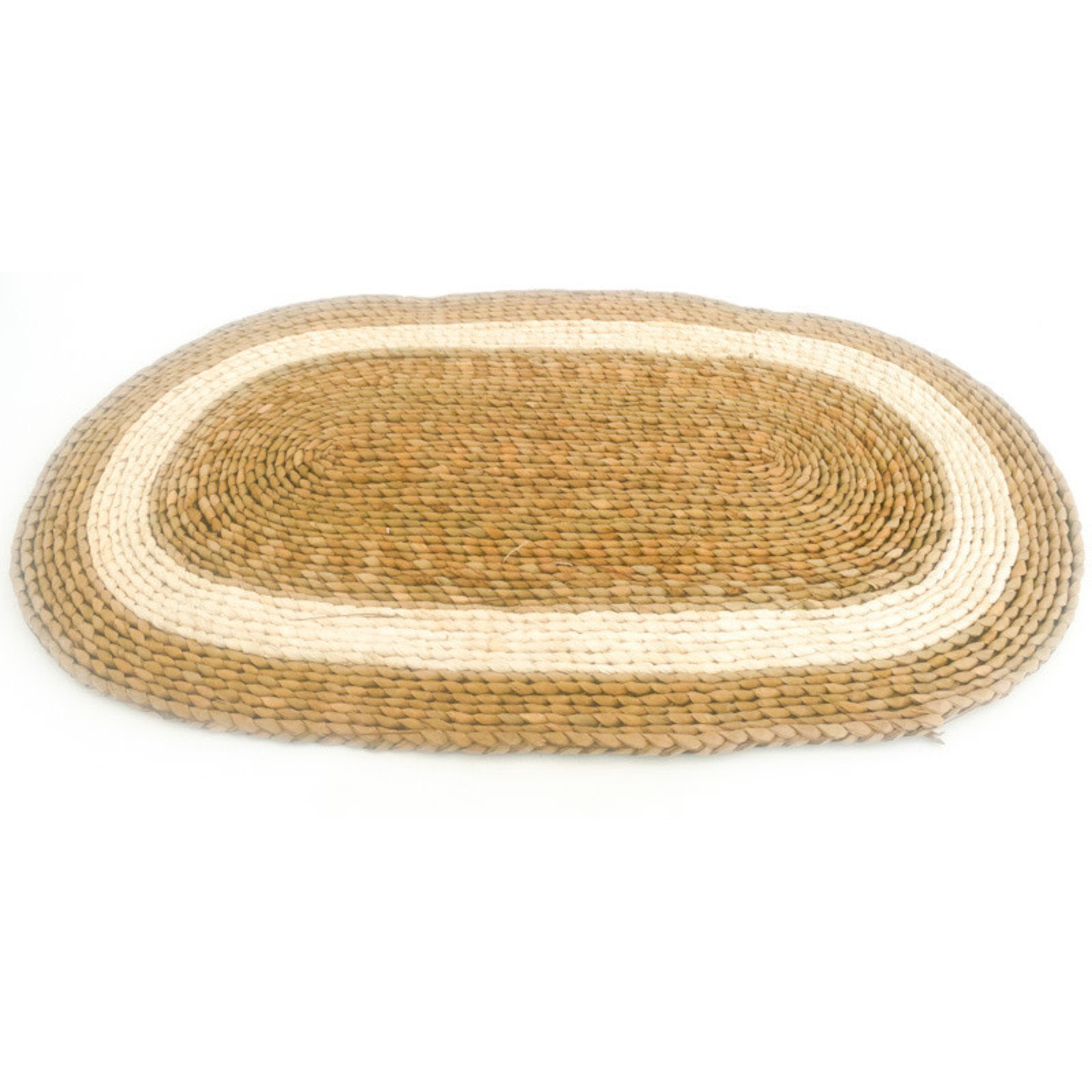 Door Mat - oval with white stripe