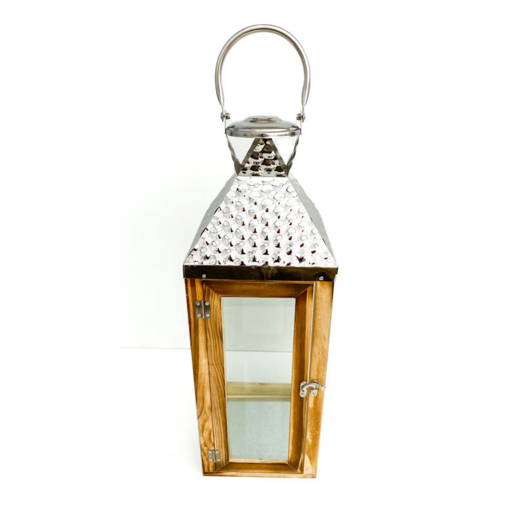 Lantern - brown with silver top