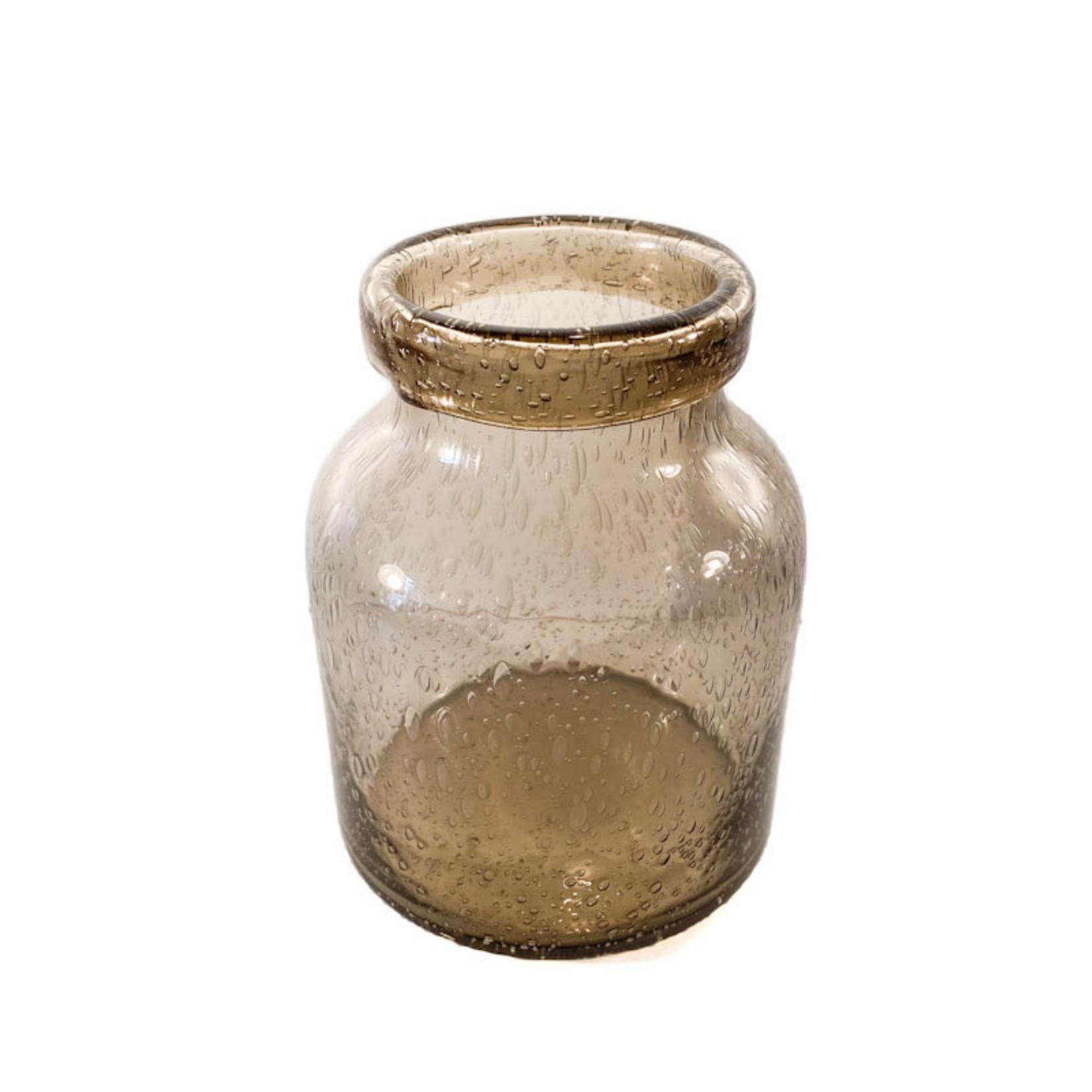 Glass Vase - Smoke