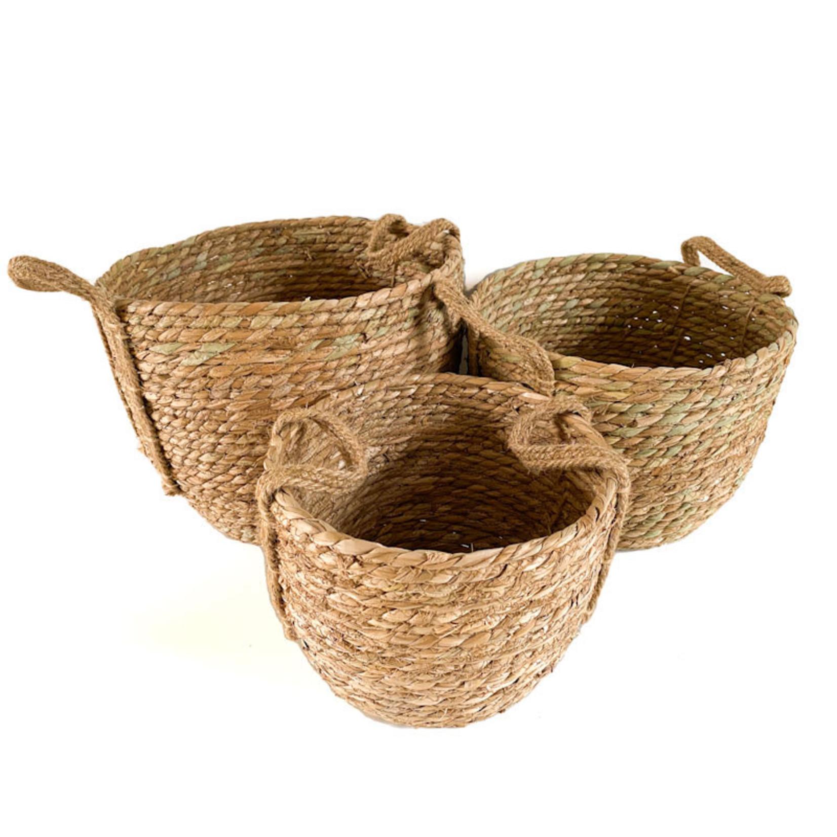 Jute Basket - round natural