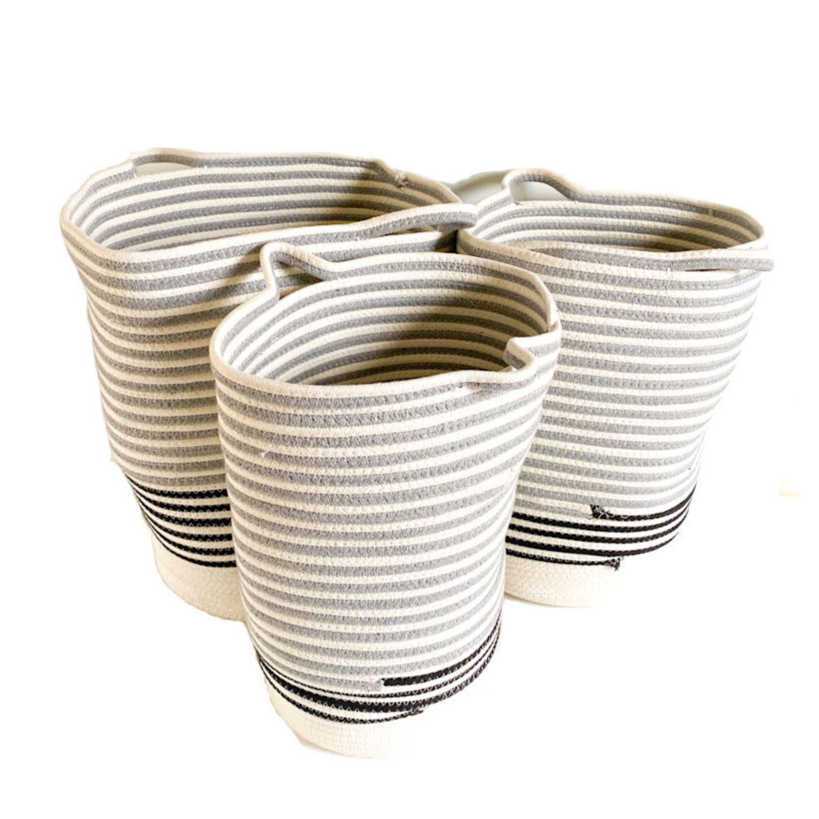 Basket - Blue Stripe
