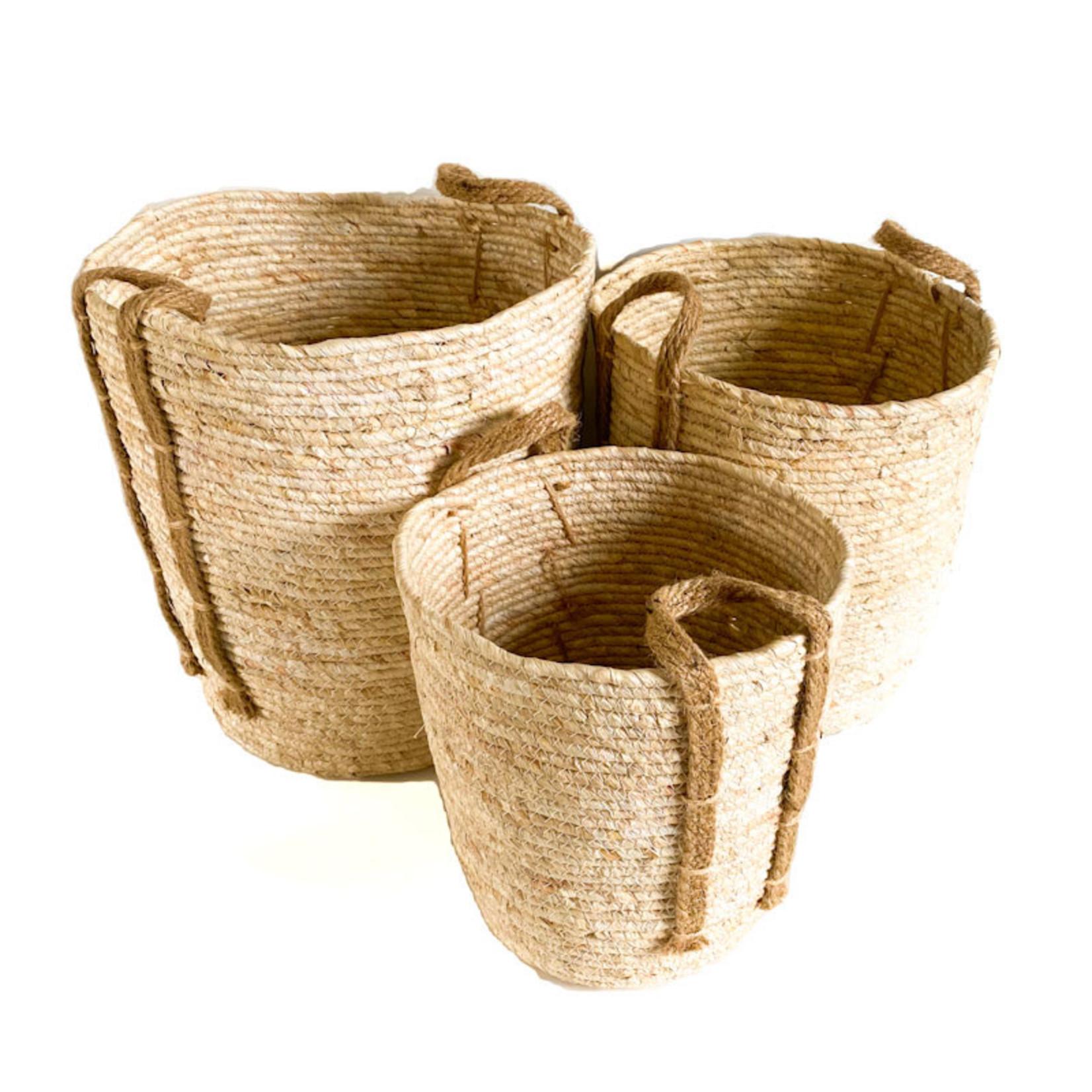 Jute Basket - cream