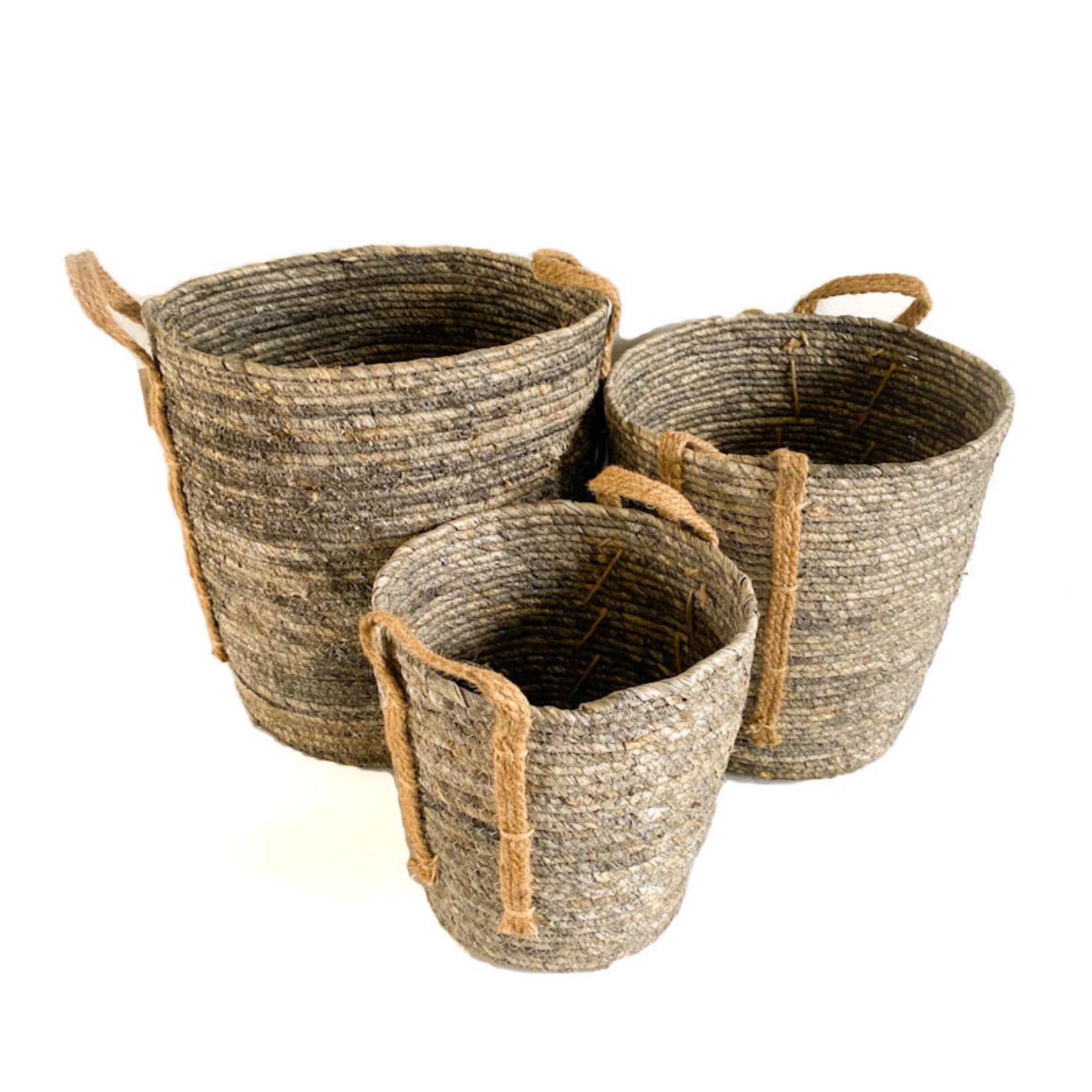 Jute Basket - Grey