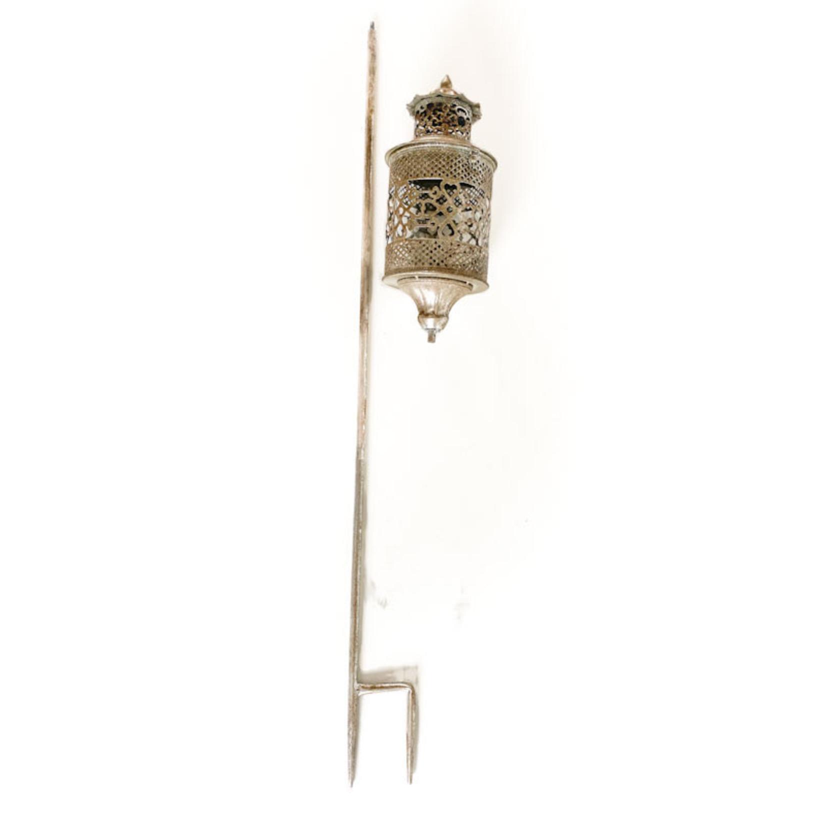 Silver Lantern with Stake