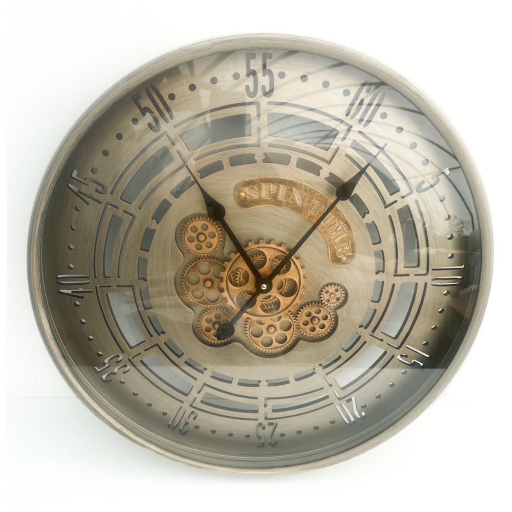 Clock - Silver Gears
