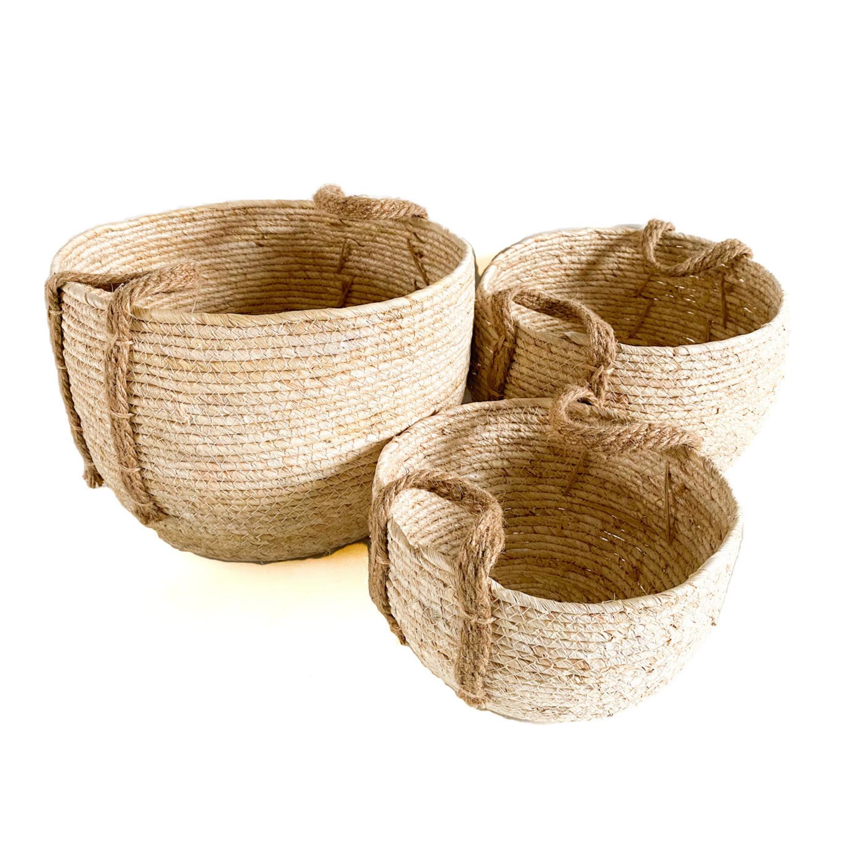 Jute Basket - round cream