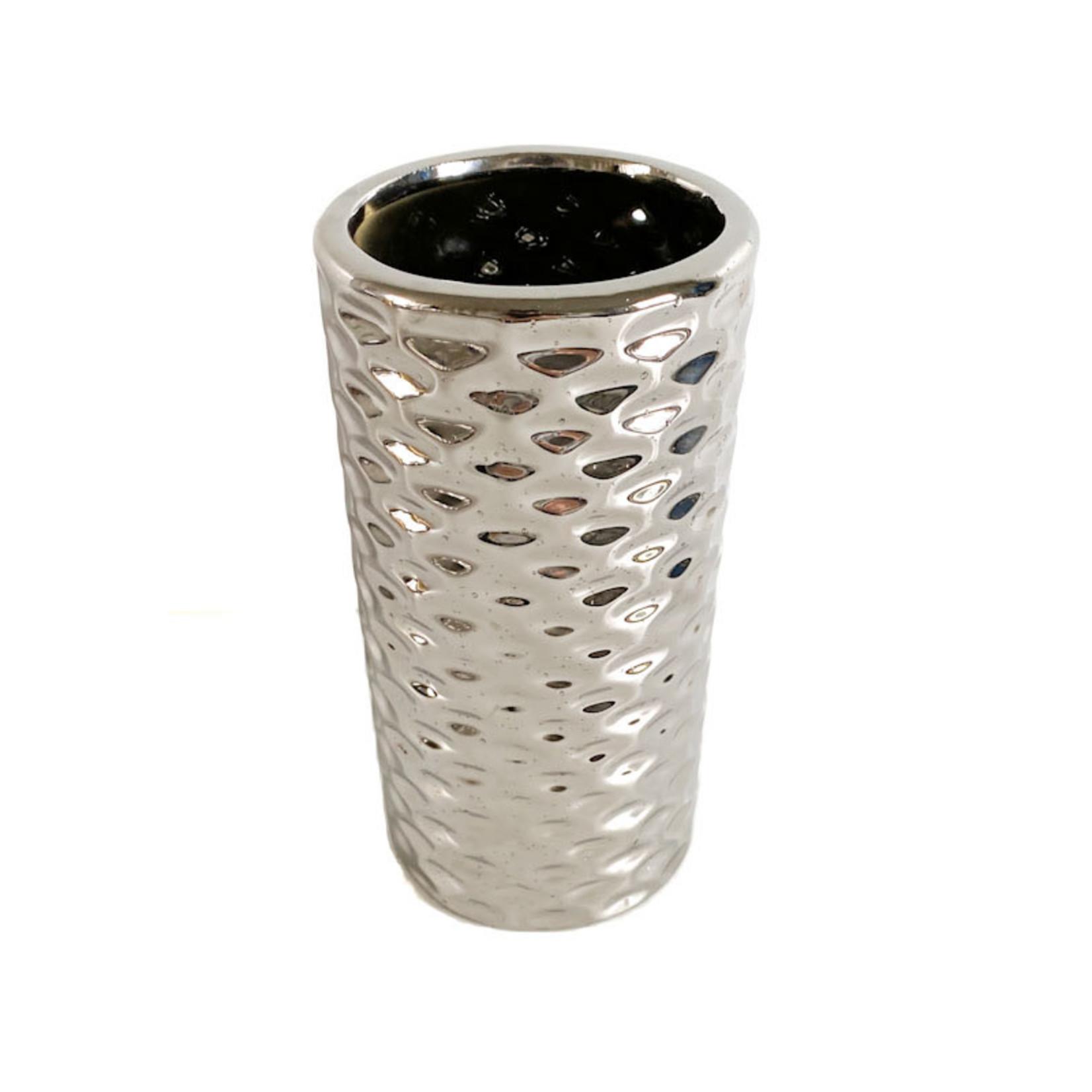 Flower Pot - metallic