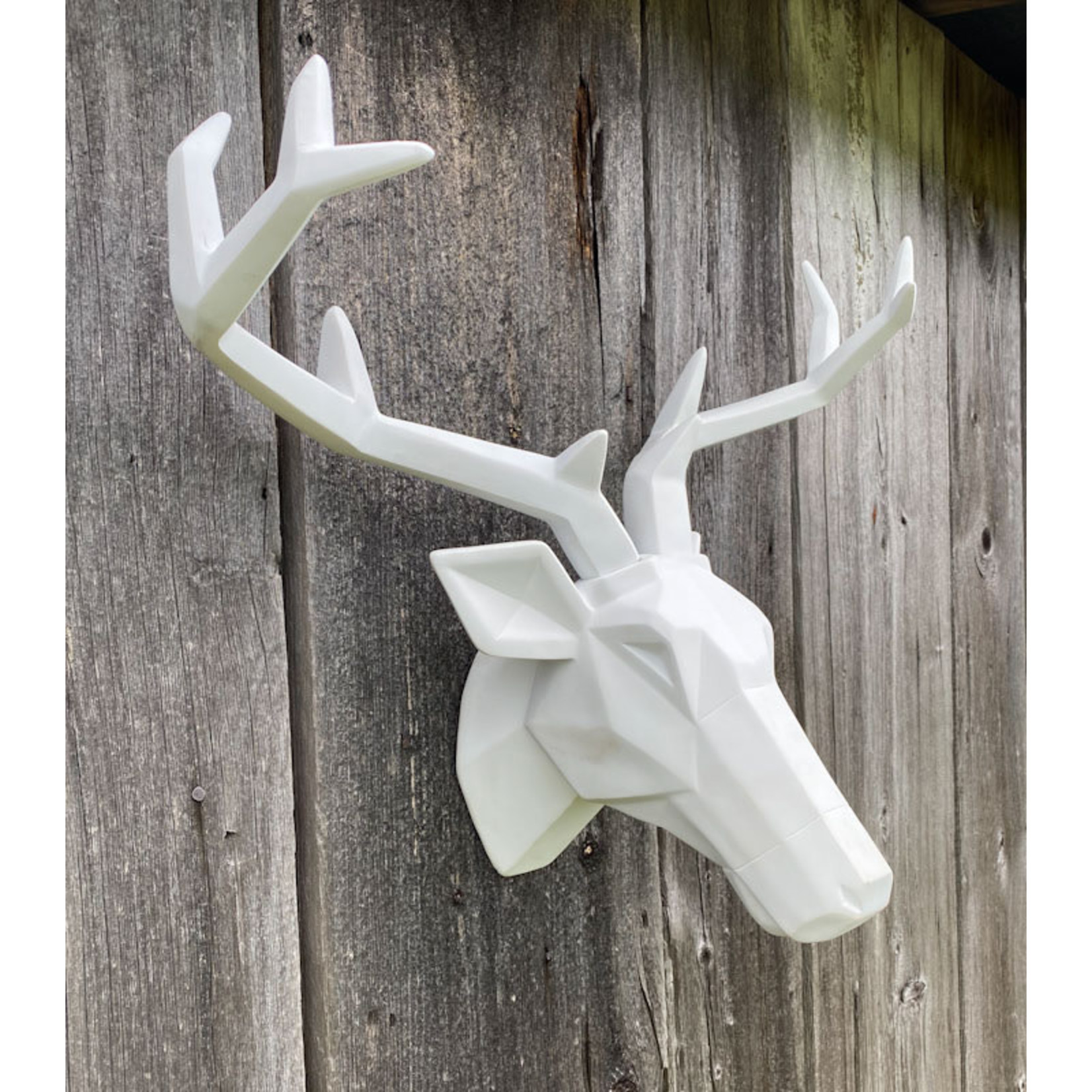 Stag Wall Ornament - White
