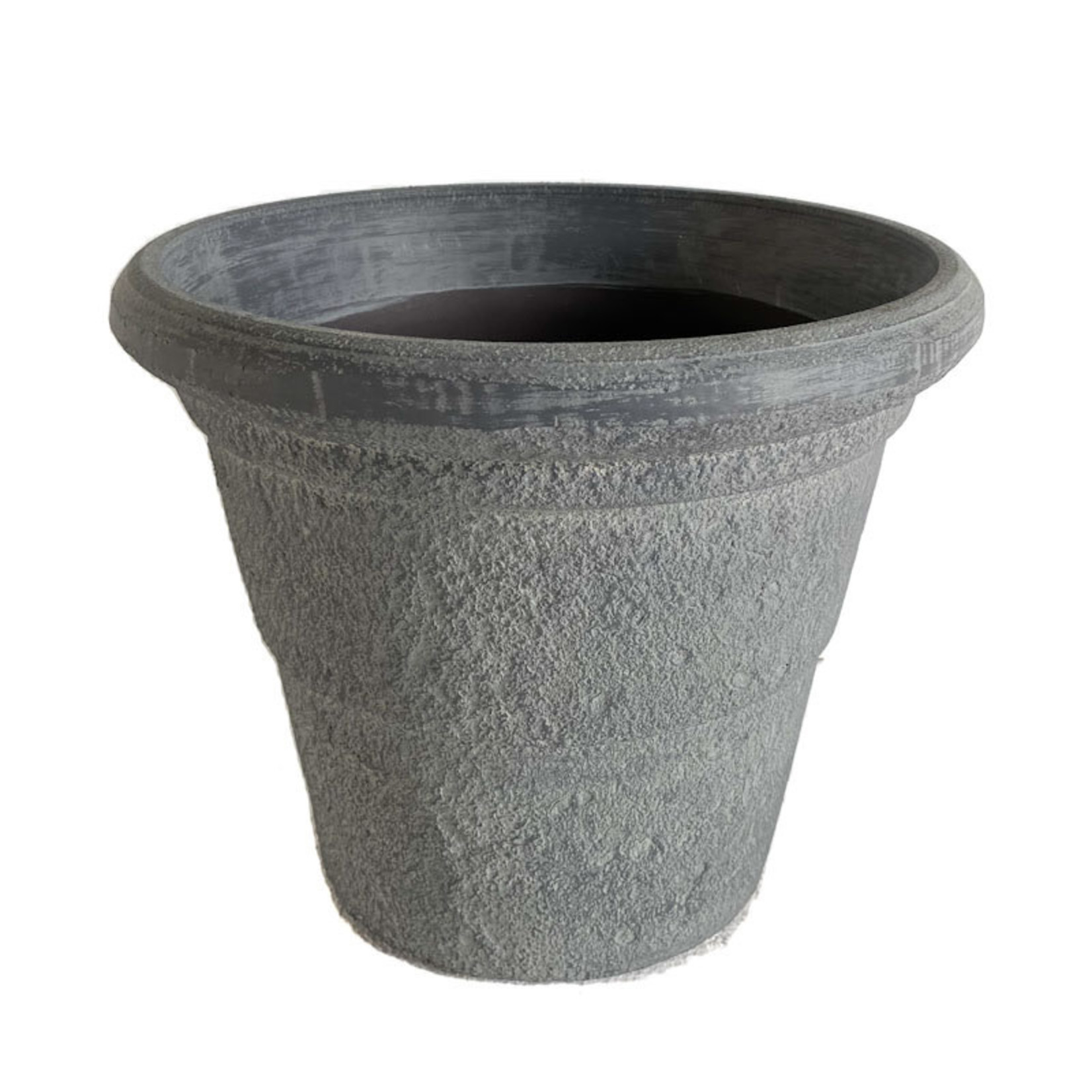 "Flower Pot - Cobblestone Grey 12""x14"""