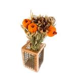 Autumn Round Bouquet - Orange Pumpkin & Saluk