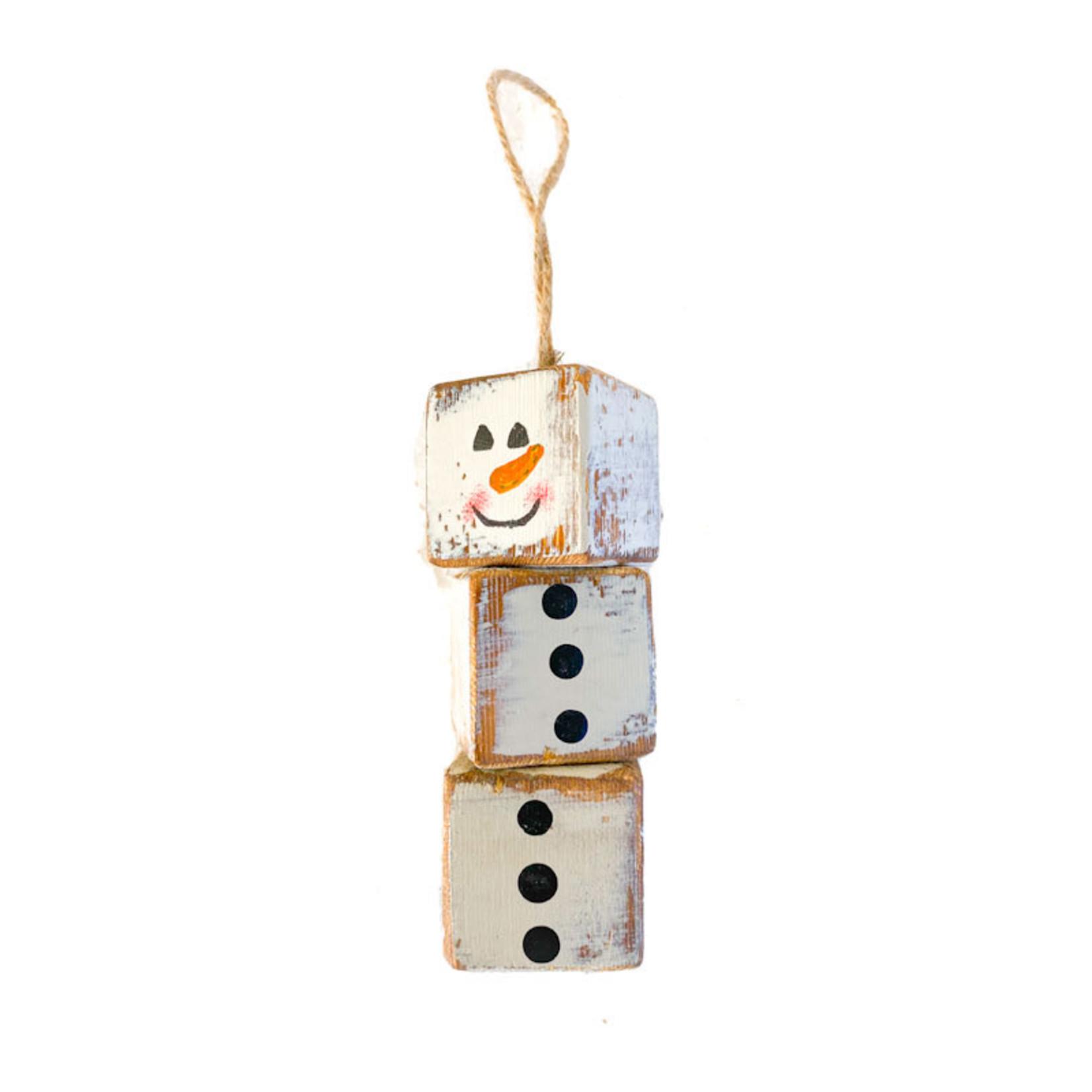 Ornament - Cube Snowman