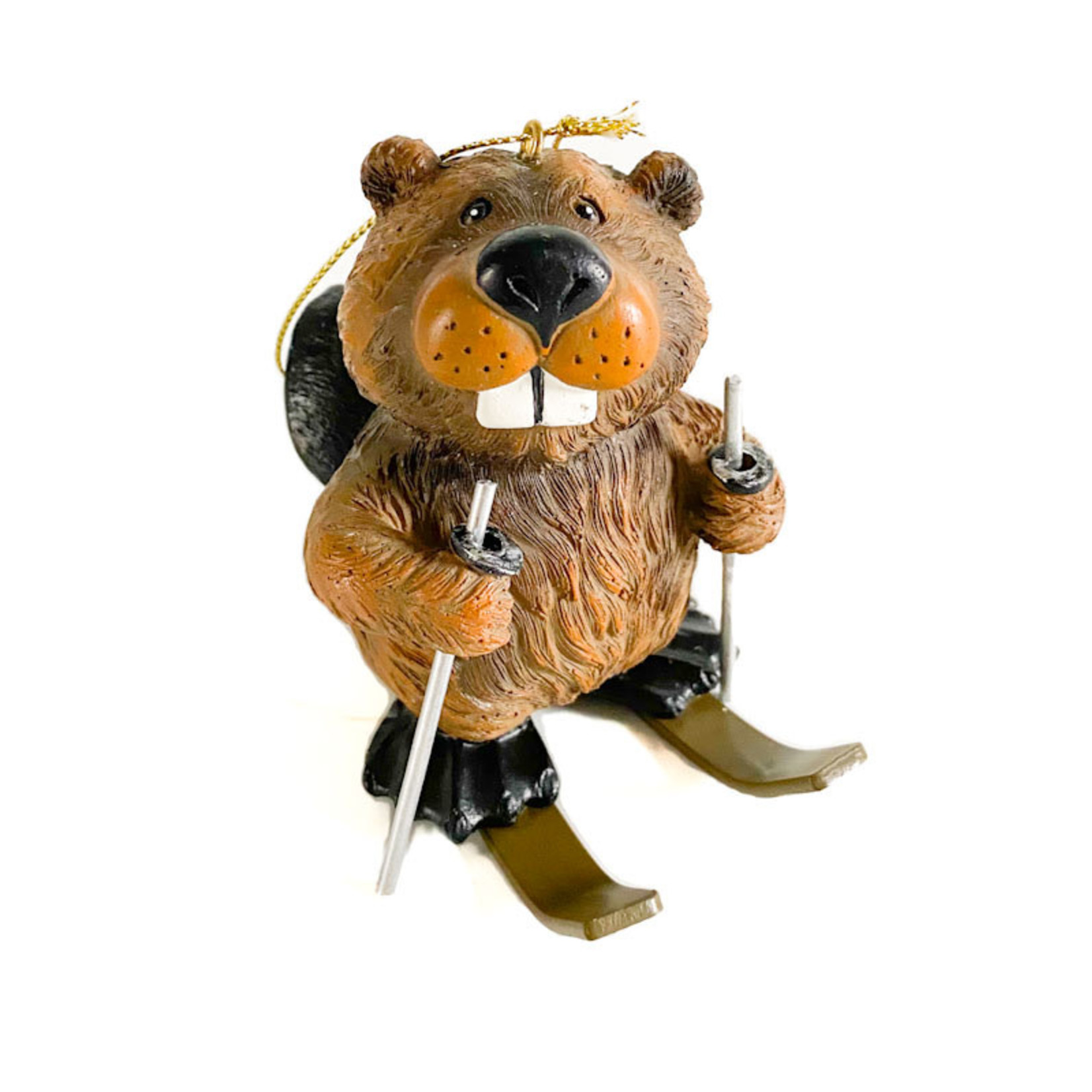 Ornament - Beaver on Skis