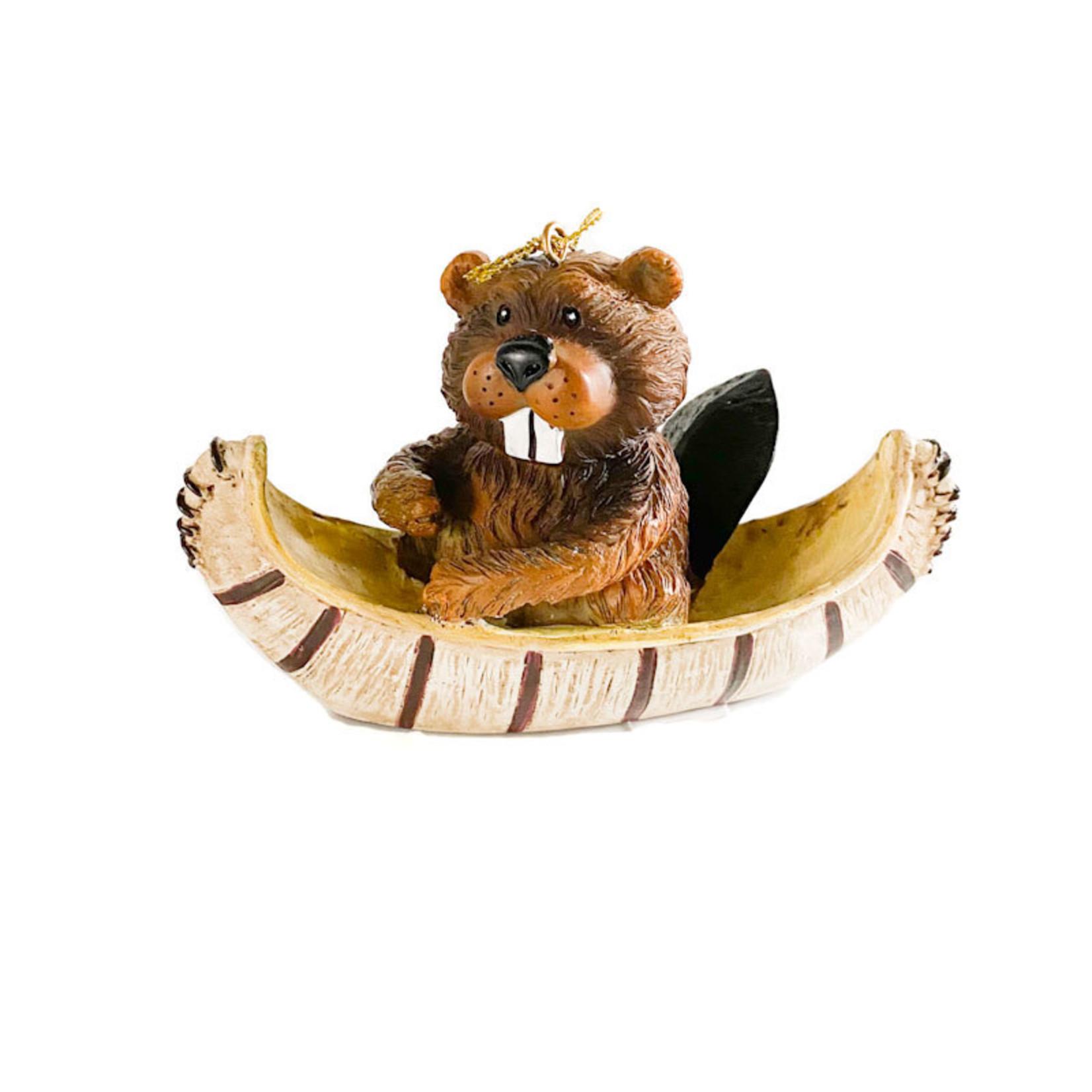 Ornament - Beaver in Canoe