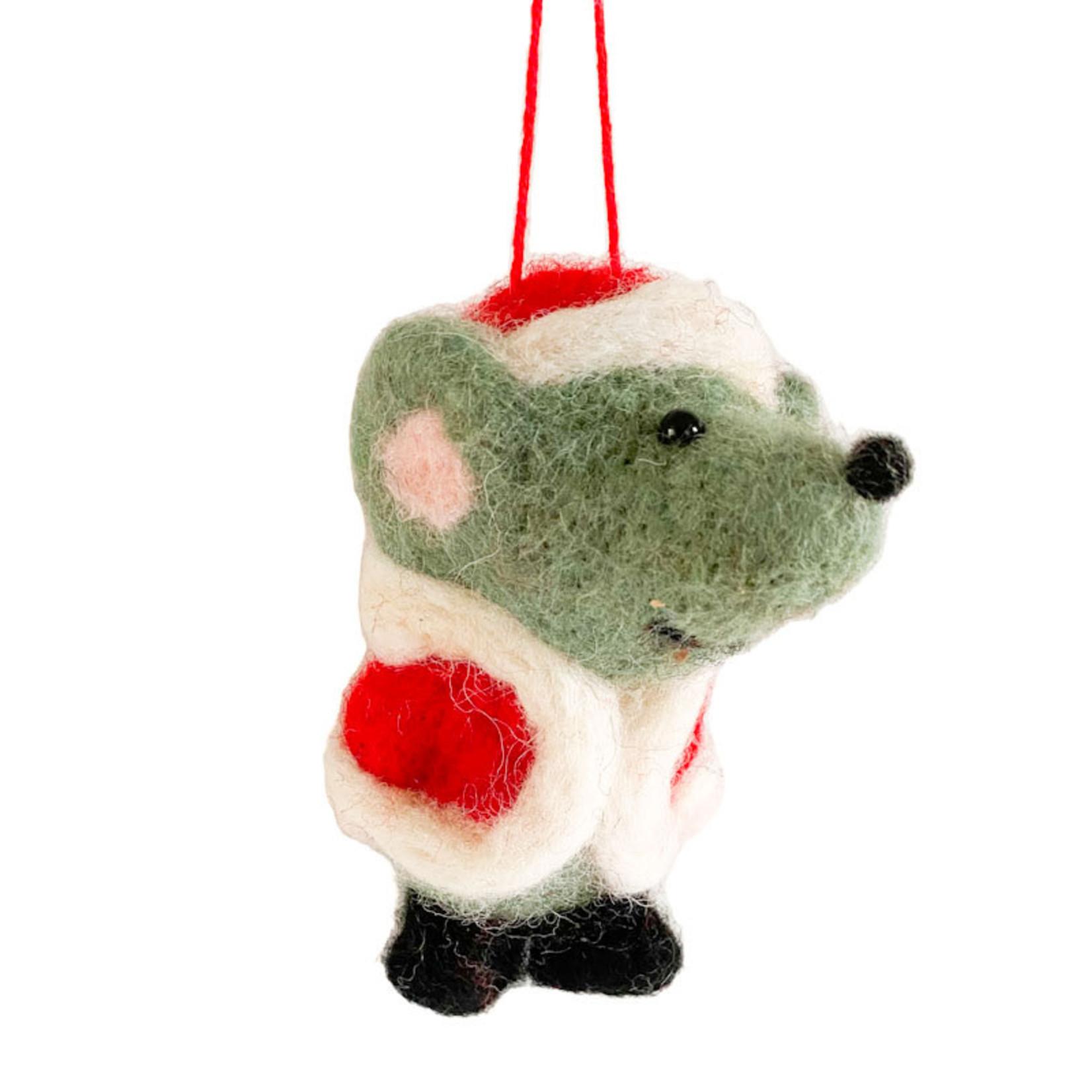 Ornament - Felt Mouse Santa