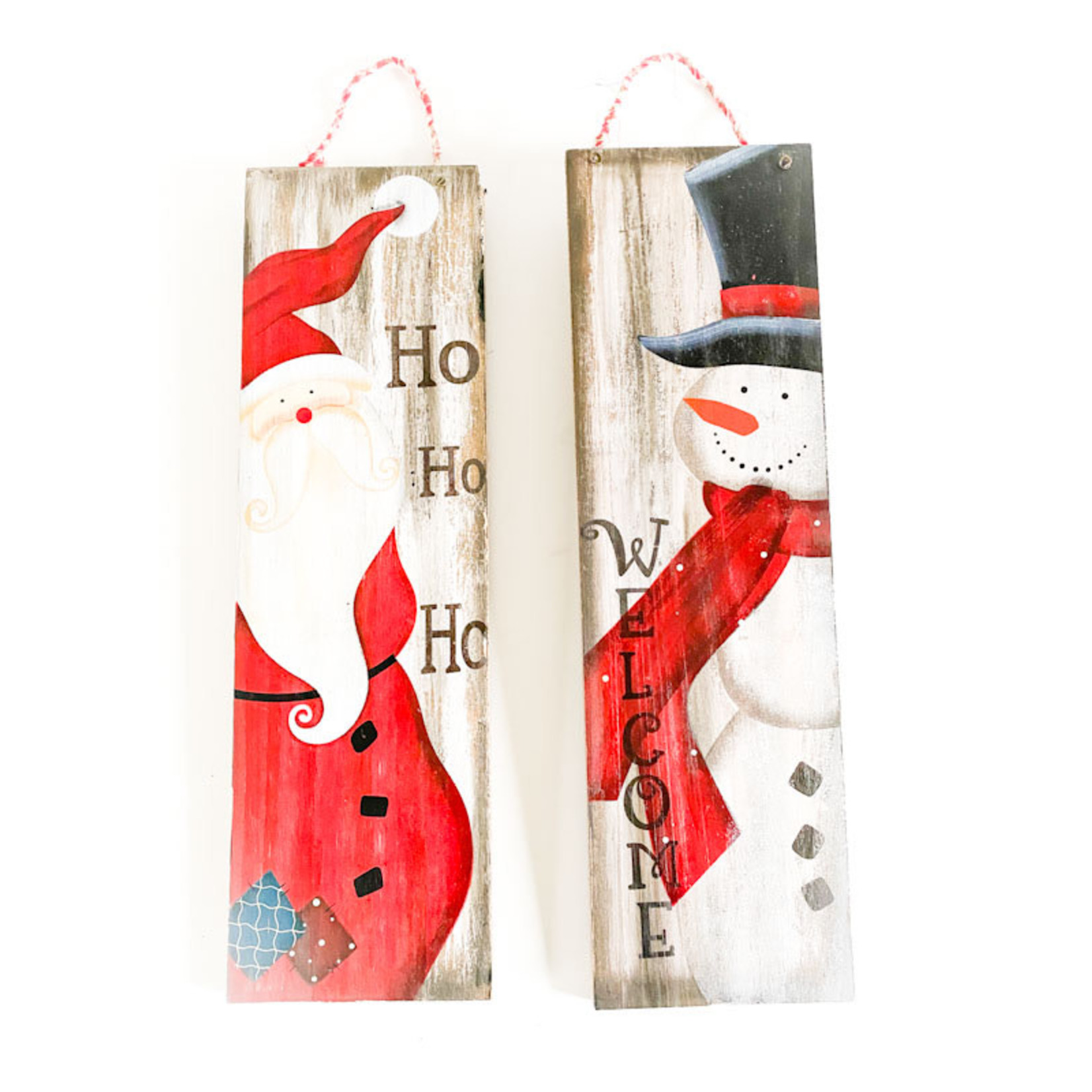 """Santa/Snowman Wall Plaque 18X5"""""""