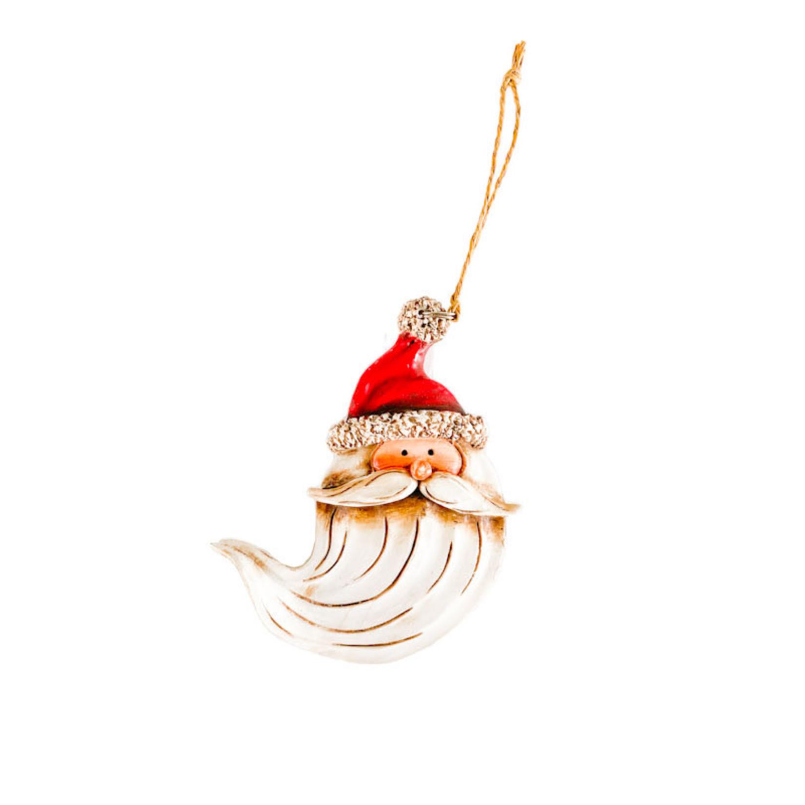 Ornament - Santa Head w Flowing Beard