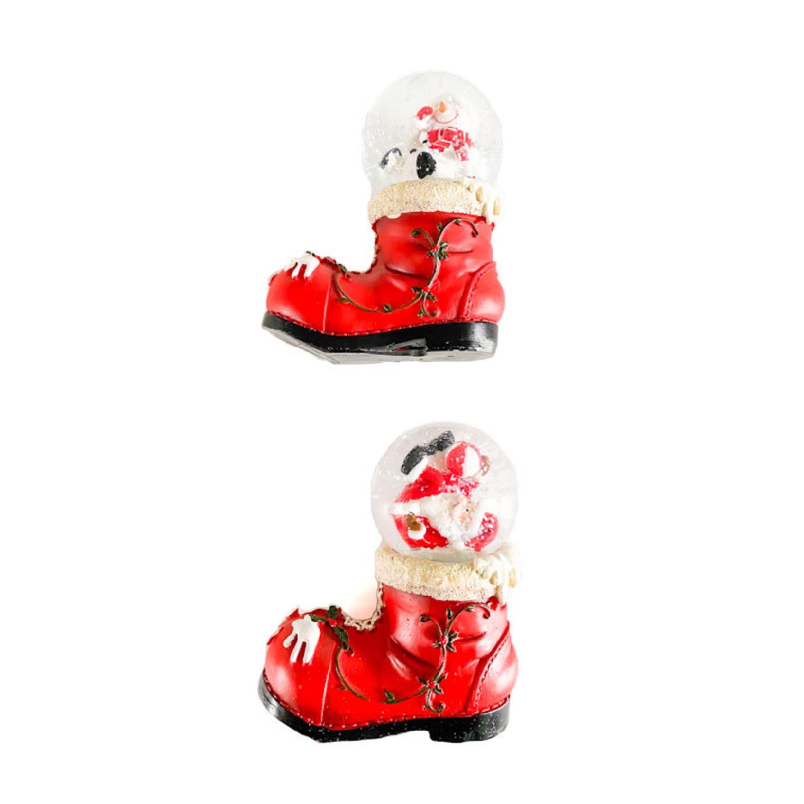 Waterglobe - On Boot w Santa/Snowman