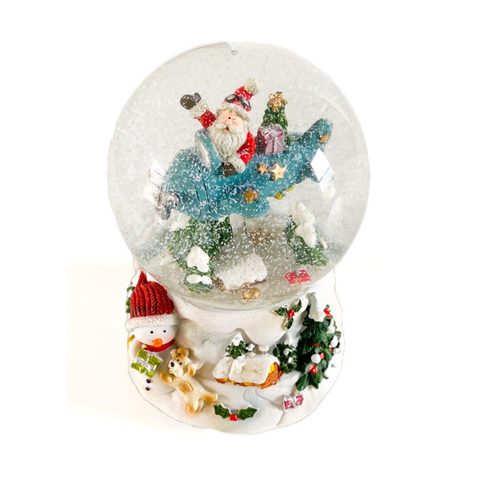 Snow globe - Santa in Plane