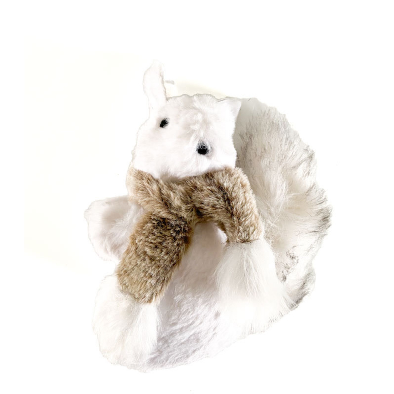 Squirrel with Scarf White