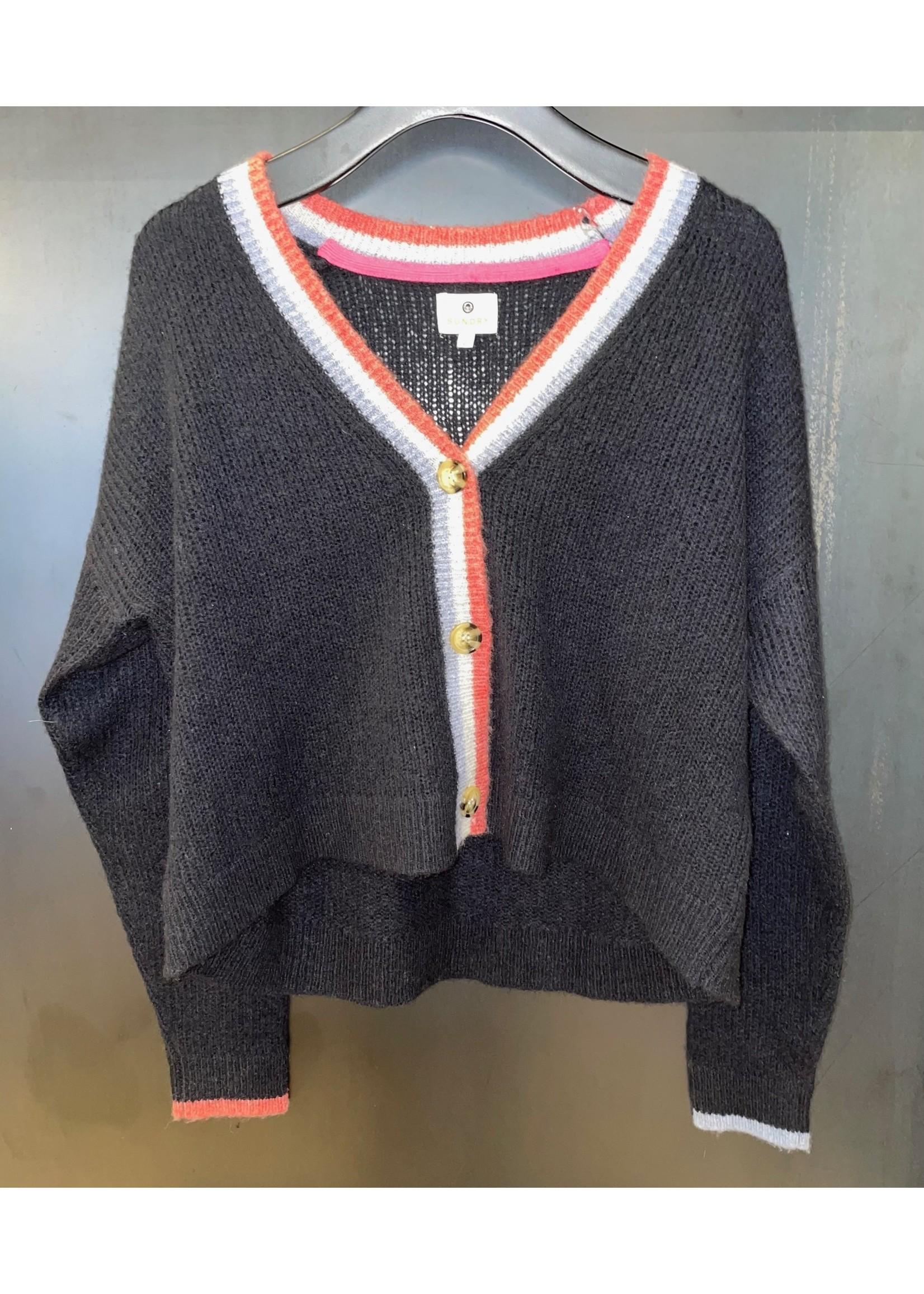 Sundry Sundry Contrast Stripe Cardigan