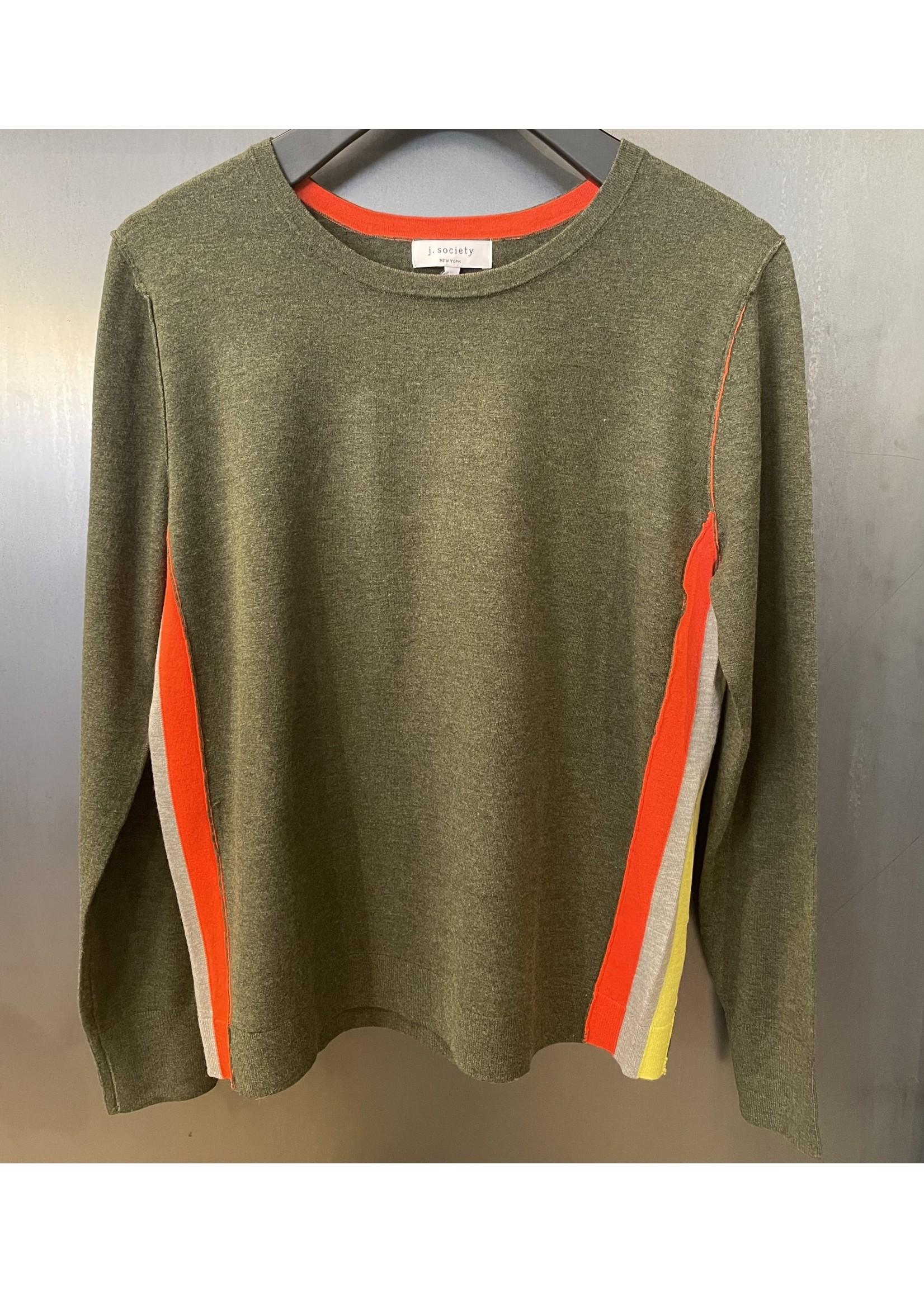 J Society J Society Side Stripe Sweater